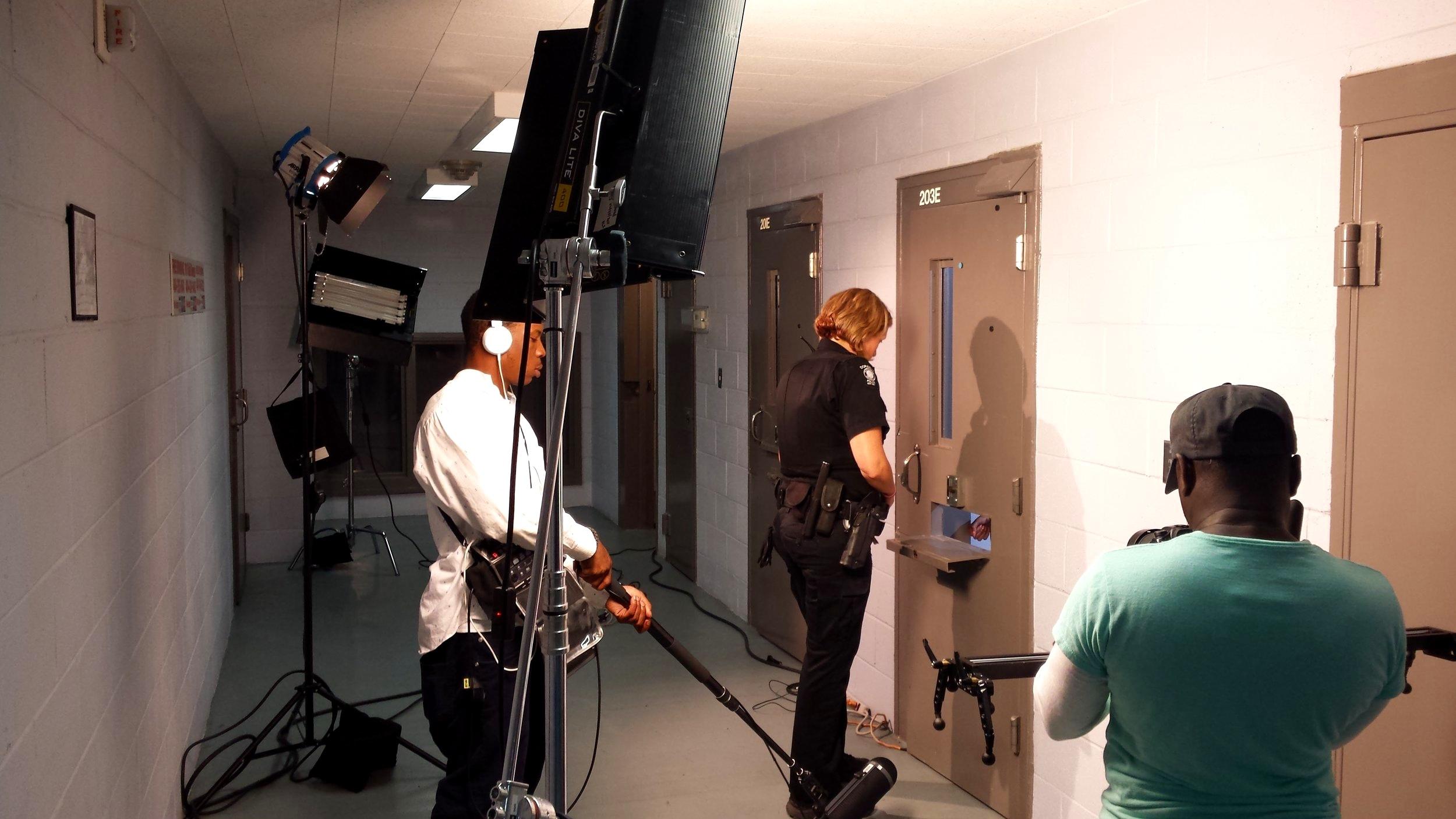 """On Set of """"Closure"""" Jail Scene in Atlanta, GA"""