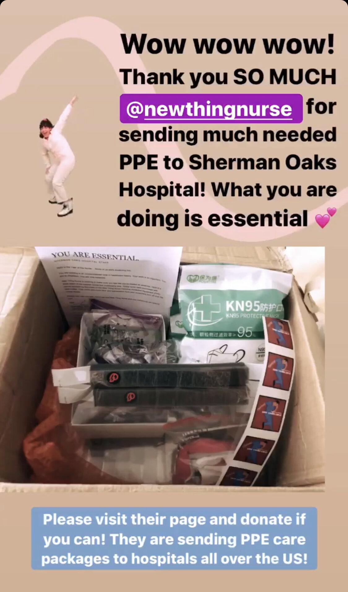 2020年5月2日:另一个新事物护士必威博彩app下载个人防护装备护理包登陆南加州!点击图片阅读更多!
