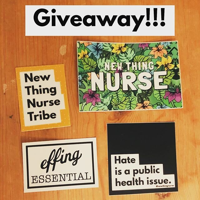 #NewThingNurse #Sticker赠品!••••••••••••••••••••••••••••••••#win一#Free的一套@newthingnurse船员贴纸来装饰alllllll的东西或共享与您的朋友(或只是为自己保留)。••••••••••••••••••••••••••••••••要进入,必须年满18岁岁,在美国一个邮寄地址States,  LIKE this post & TAG one friend who might want some stickers too! One comment per account  •••••••••••••••••••••••••••••••• Giveaway ends on 6/11/2020 @ 2359 PST - GOOD LUCK!!  • • • • • • • •••••••••••••••••••••••••••••••• For more info on giveaway rules, please see  //www.relocateyourcar.com/disclaimers/ • This giveaway isn't sponsored, endorsed or administered by, or associated with Instagram or Facebook