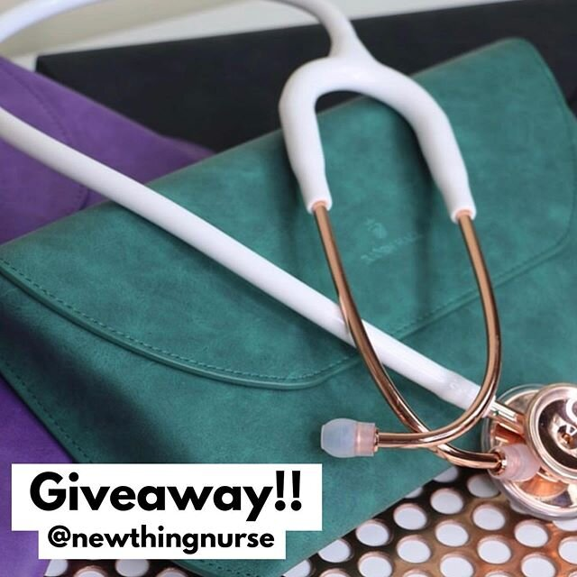 GIVEAWAY  ••••••••••••••••••••••••••••••• I'll be giving away TWO @bjornhallstethoscopes stethoscope cases to lucky #nurse followers (one on IG & one on Facebook) to help them keep their #stethoscopes in top condition & easily found! (Let's be real - how many times have you lost your stethoscope on shift?) These gorgeous cases are cute & work like a charm - I've had my stethoscope in one for a few months & LOVE it  ••••••••••••••••••••••••••••••• HOW TO ENTER ⬇️⬇️ 1. Follow @newthingnurse  2. Tag 1️⃣ of your #nurse or #nursingschool friends in the comment section below   ••••••••••••••••••••••••••••••• Giveaway ends at 11:59 pm PST June 17, 2020. One winner will be selected at random from IG & one from Facebook. If selected, you will have 24 hours to respond, otherwise a new winner will be selected. One entry per IG/FB account. #free ••••••••••••••••••••••••••••••• For more info on giveaway rules, please see  //www.relocateyourcar.com/disclaimers/ • This giveaway isn't sponsored, endorsed or administered by, or associated with Instagram or Facebook.