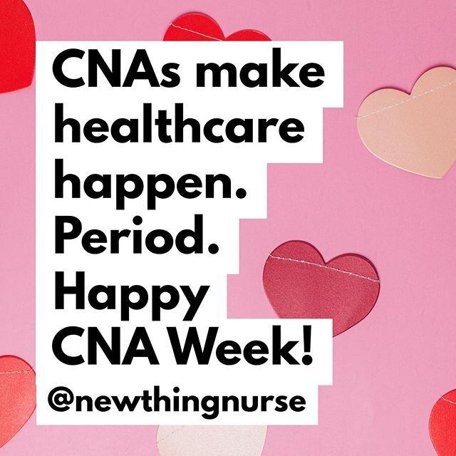 #healthcare是最终的团队运动&#cnas是它的支柱。今天是#cnaweek结束,但要知道,你们每个人 -  #cna,#nursingassistant,#patientcaretech,#patientcareassistant和所有其他的标题 - 是什么让成功的病人护理可能在每一个护理的环境。你们每一个人都是如此赞赏&所以很#essential今天和每一天。感谢您使我们的工作成为可能。#happycnaweek  @newthingnurse