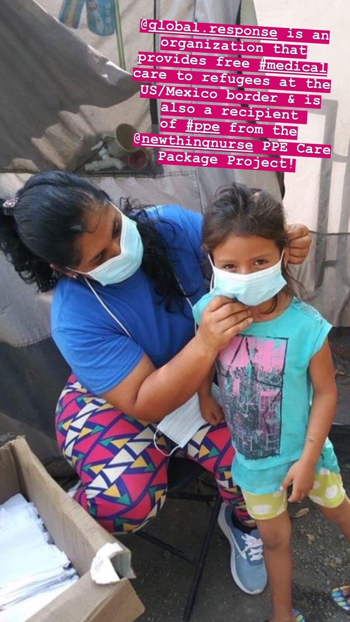 2020年7月-全球反应管理在德克萨斯州的Matamoros开设了一个志愿者诊所,为德克萨斯州-墨西哥边境的近3000名寻求庇护者提供唯一的医疗通道,并且是NTN PPE护理包项目的PPE接受者。点击上面的图片阅读更多关于他们不可思议的工作。