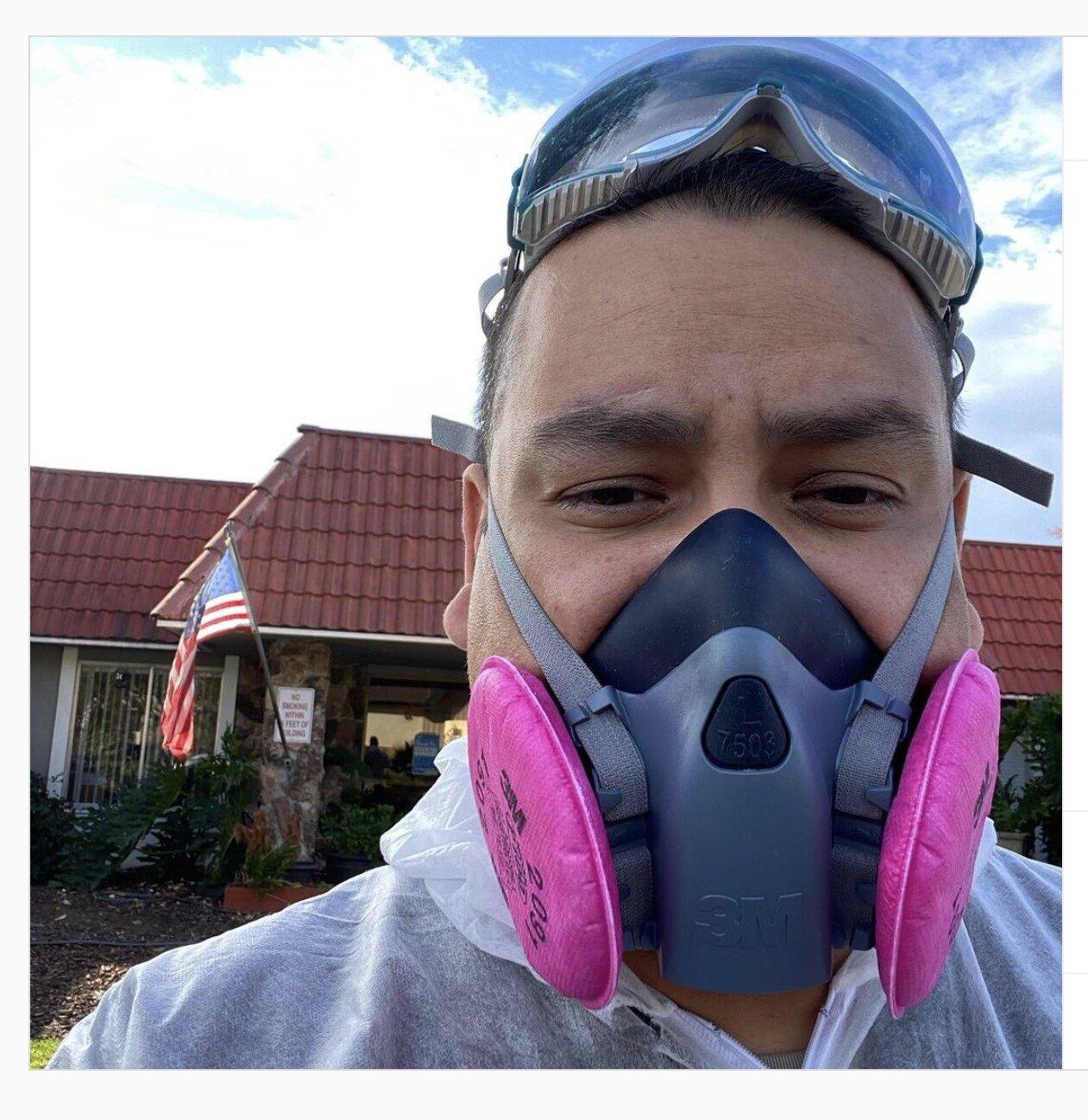 12/12/2020:@drphilrn发表关于接收他的弹性呼吸器面膜+ P100过滤器从PPE护理包装项目捐赠的评论意味着对他来说意味着。