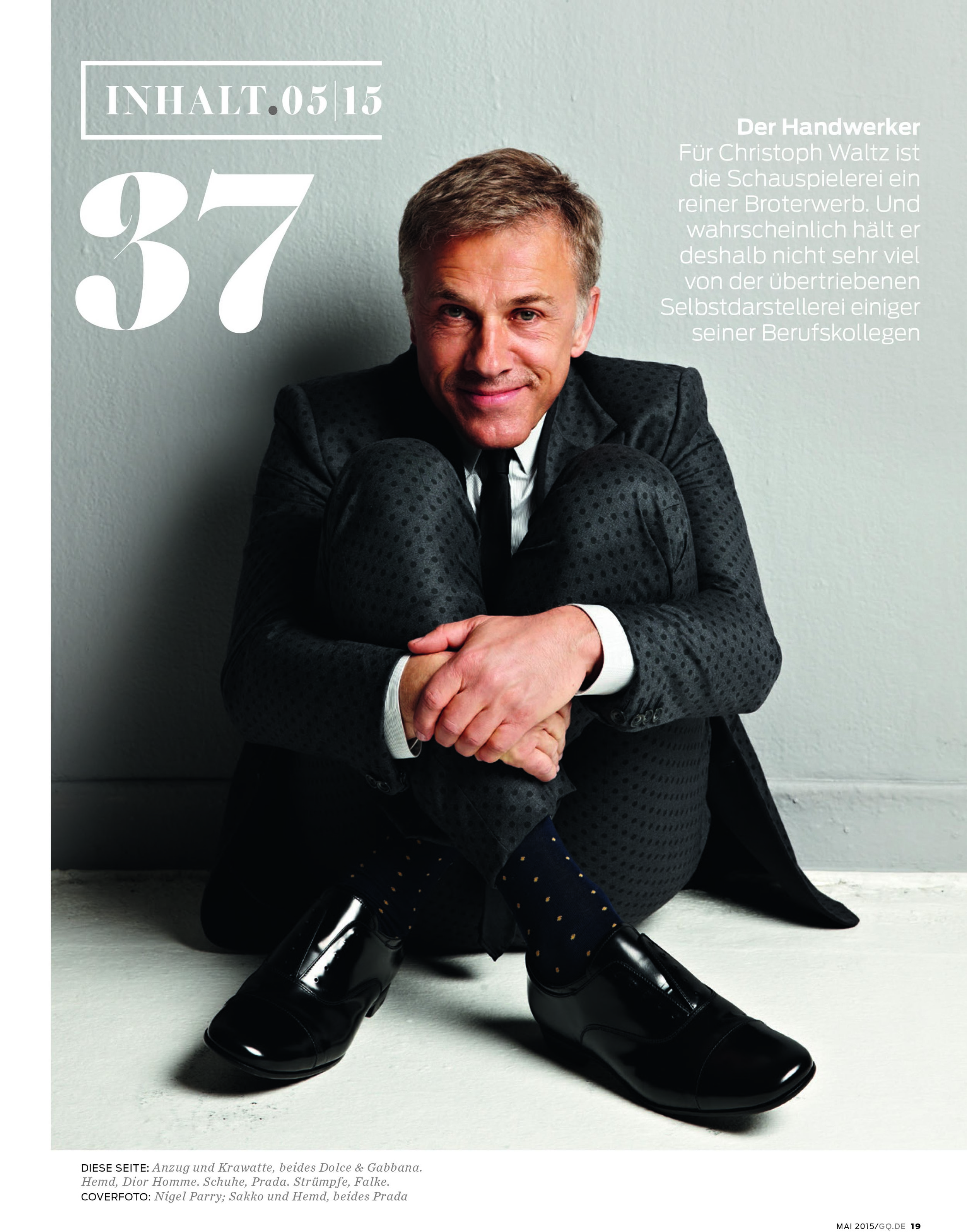 Christoph Waltz - GQ Germany