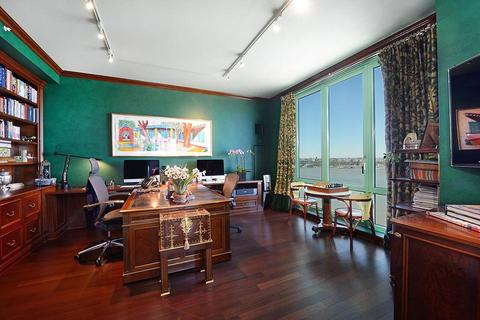 classic design home office with custom colored walls
