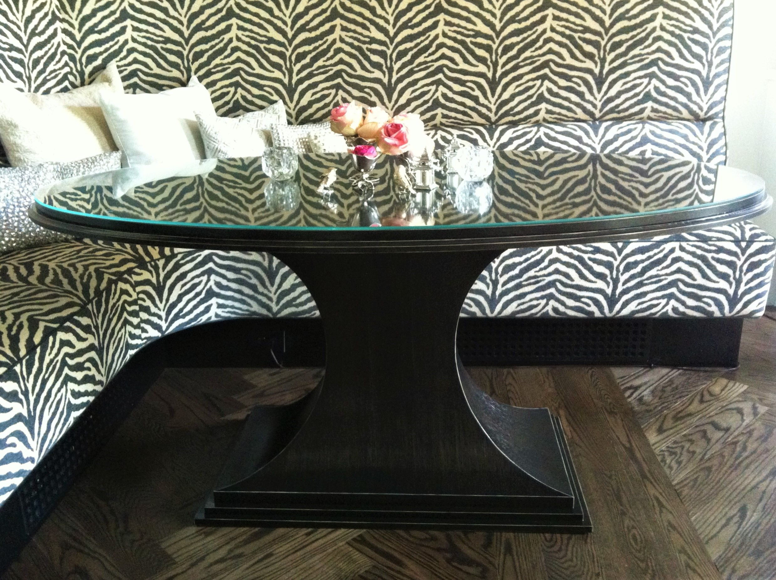 custom elliptical dining room table