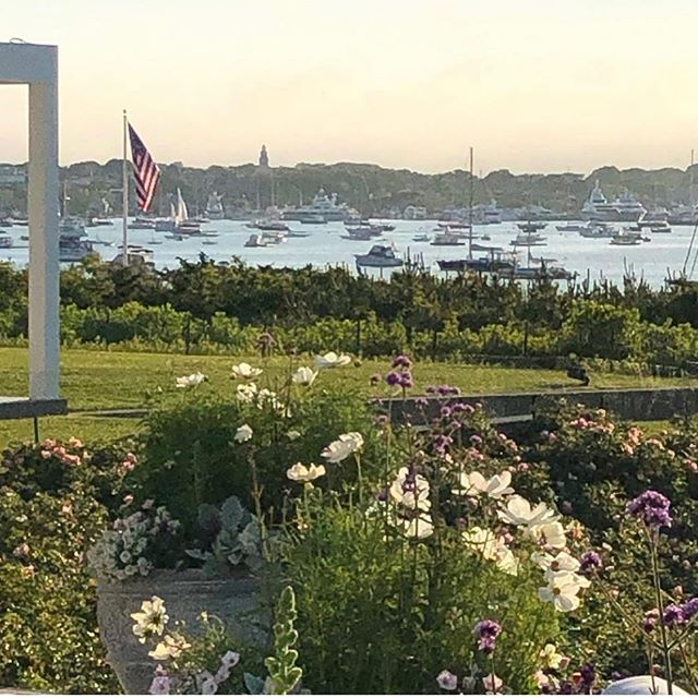 So thankful it's summer! . . . #regrann: @chadconwaynyc #summer #boats #patriotism #flowers
