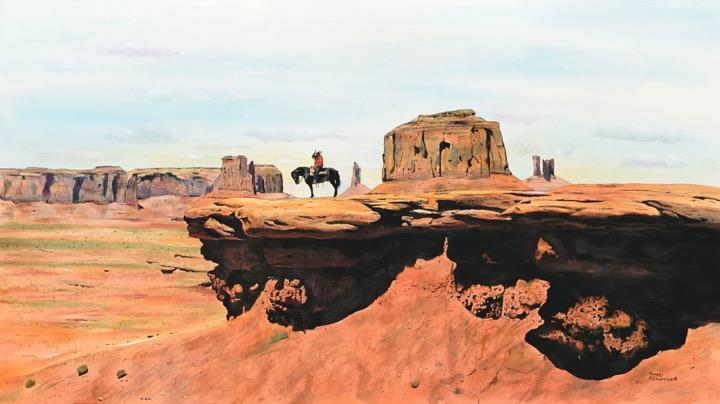 Navajo Indian On Horesback