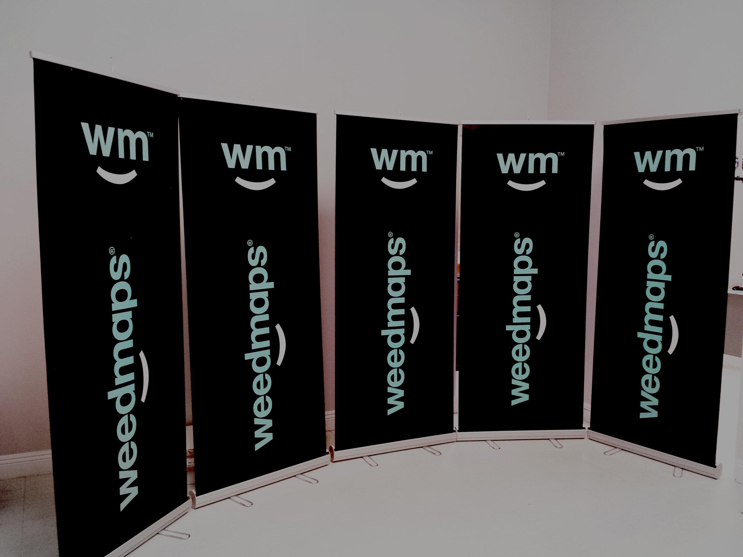 Weedmaps retractable banners