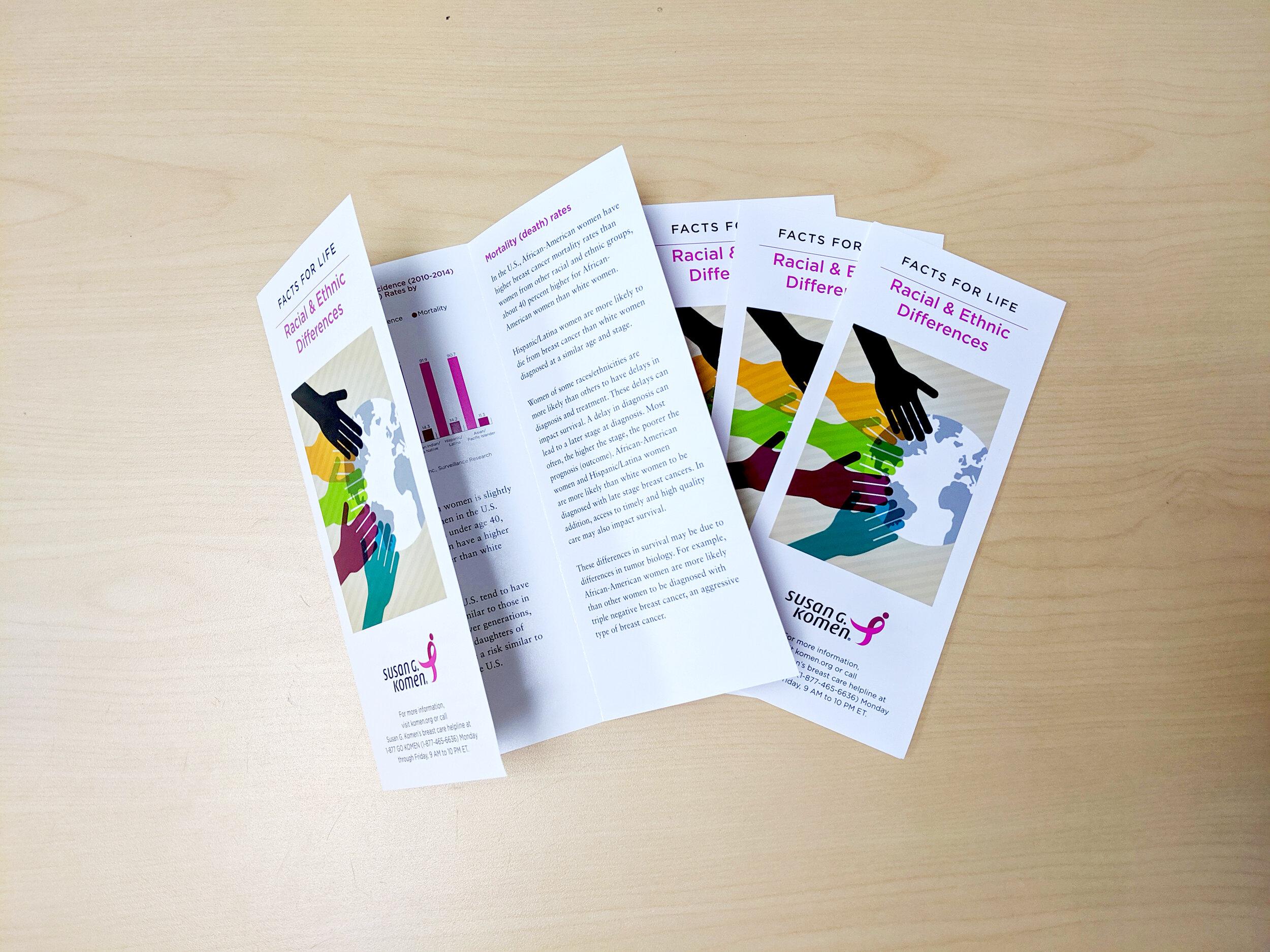 Susan G. Komen Trifold Brochure