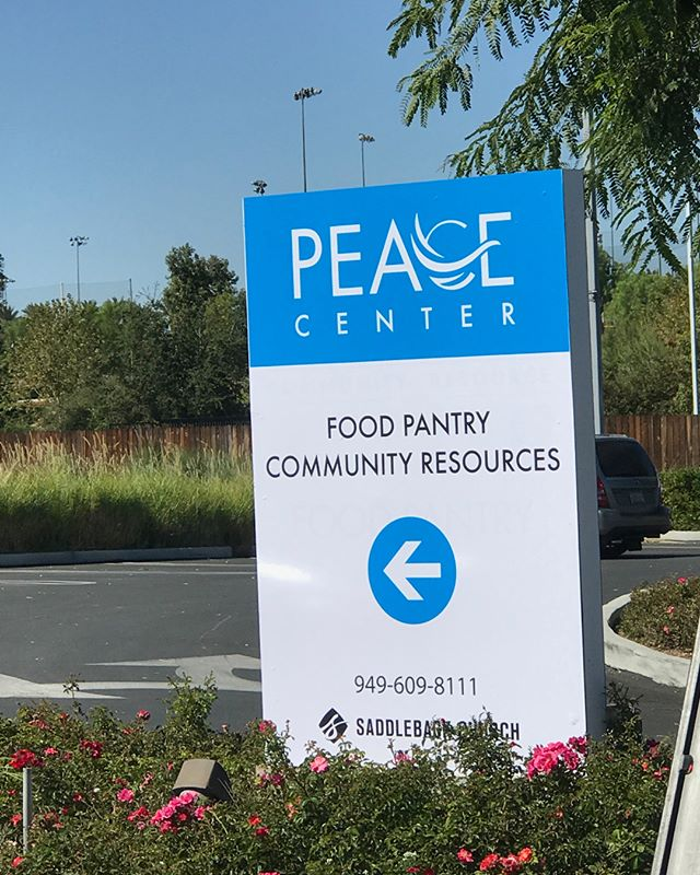 This Peace Center sign that we did for @saddlebackchurch turned out sweet!😃👍 #wideformat #printing #design #graphicdesign #print #stickers #wideformatprinting #color #business #largeformat #signs #vehiclewraps #banners #vinyl #irvine #california #digitalprinting #carwraps #copies #installation #quality #graphics #digitalprint #businesscards #decals #flyers #offset #advertisingagency #commercialprinter #2thrivemedia