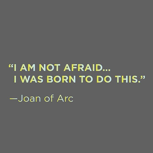 Hiya! How's your week going?? Need a little courage to keep pushing? Try this... tap into a little #joanofarc for inspiration. You've got this. Chase those dreams. xoxo -COEO