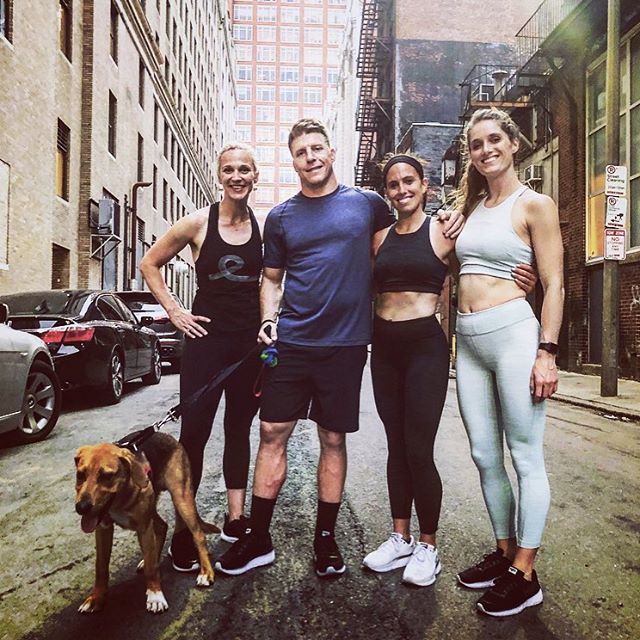 "Hiya! Are you curious about how digital trends and communities fit into all this fitness stuff?! Want to chat about it more? Join the one of the left (the human, not the dog) @scarlet.batchelor , founder of @coeo_fitness , next Monday @ga.boston as she moderates a panel on the topic: ""Health and Fitness: Using Tech to Achieve Your Goals"". With panelists like @meeshlvh from @mindbody and team members from @asics_studio its gonna be great. The event is free! Link in bio."
