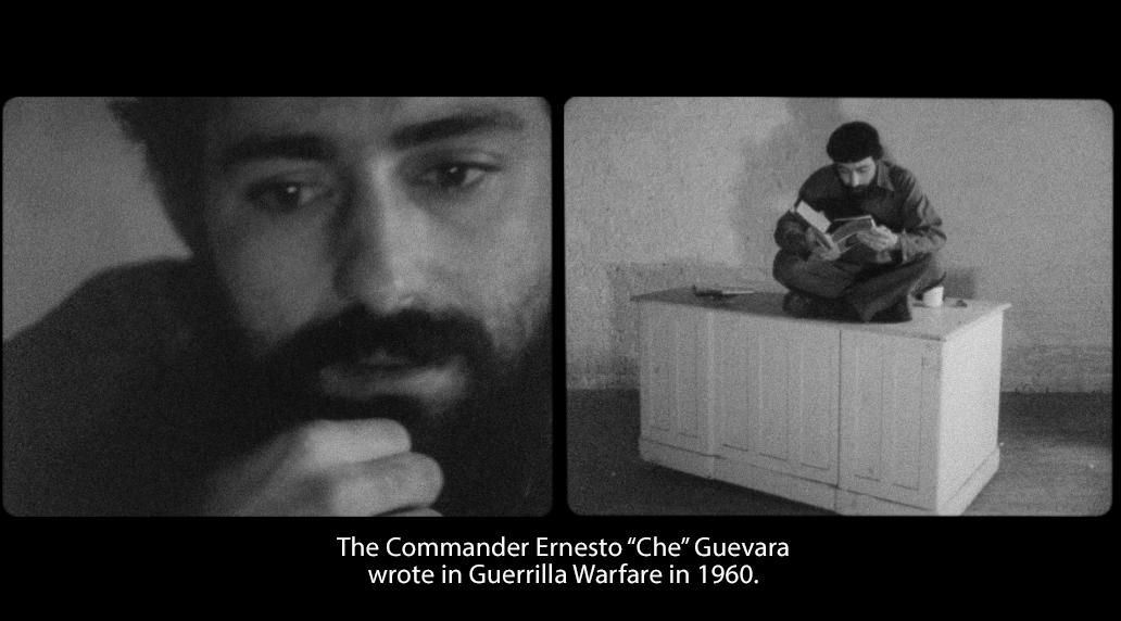 """Rolando Peña as Ernesto """"Che""""Guevara in  Diálogo con el Che ( Dialogue with Che) 1968 by José Rodriguez Soltero."""