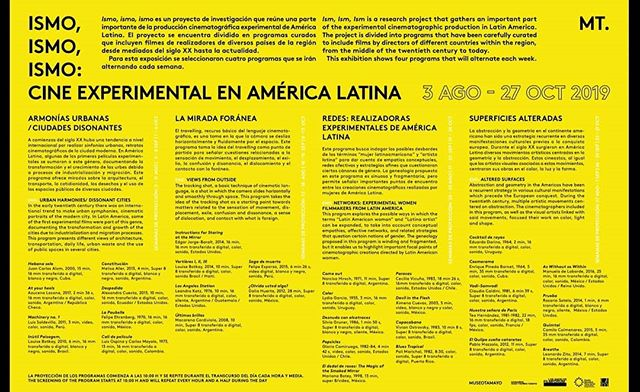 Loop screenings of ISM ISM ISM start this Saturday at Museo Tamayo in Mexico City! @lafilmforum  @eneltamayo  #cineexperimental  #super8 #16mm #35mm #latinamericanfilm #experimentalcinema