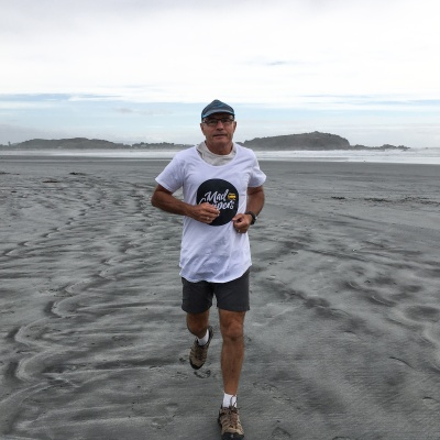 8. Run on a black sand beach