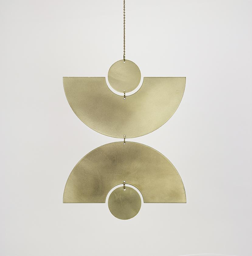 Modern Brass Wall Hanging