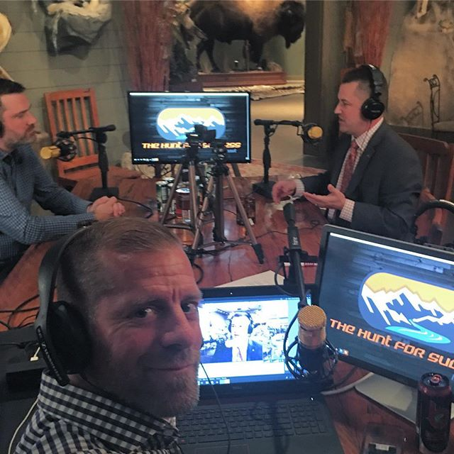 Currently LIVE from the studio. Watch for this one to drop soon. #thehuntforsuccesspodcast #thehuntforsuccess #podcast
