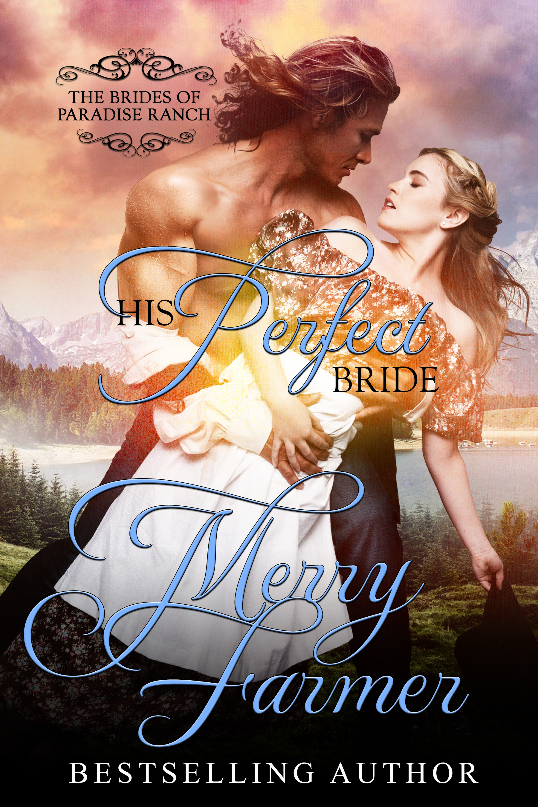 """His Perfect Bride (Book 1) - For Corva Collier, life as a mail-order bride in the quirky town of Haskell, Wyoming is her last chance for escape. She longs for a peaceful life away from the darkness of her past where she can create the paintings that are close to her heart, and where she hopes she can grow to love her husband.But how do you love a man who was persuaded to marry you against his will?Franklin Haskell never planned to marry. What woman would want a man who was crippled due to his own arrogance? But when he is offered the chance to help a woman in crisis, he agrees to wed. Corva is so much more than he expected, and when a baseball game gives her the chance to shine, he loses his heart.But how do you tell a woman you love her when she deserves so much better?The game of love has never been so hard to play…or so worth winning.PLEASE BE ADVISED: Steam Level = HOTIf you would like to read this story without any """"scenes,"""" check out Corva: The Perfect Bride"""