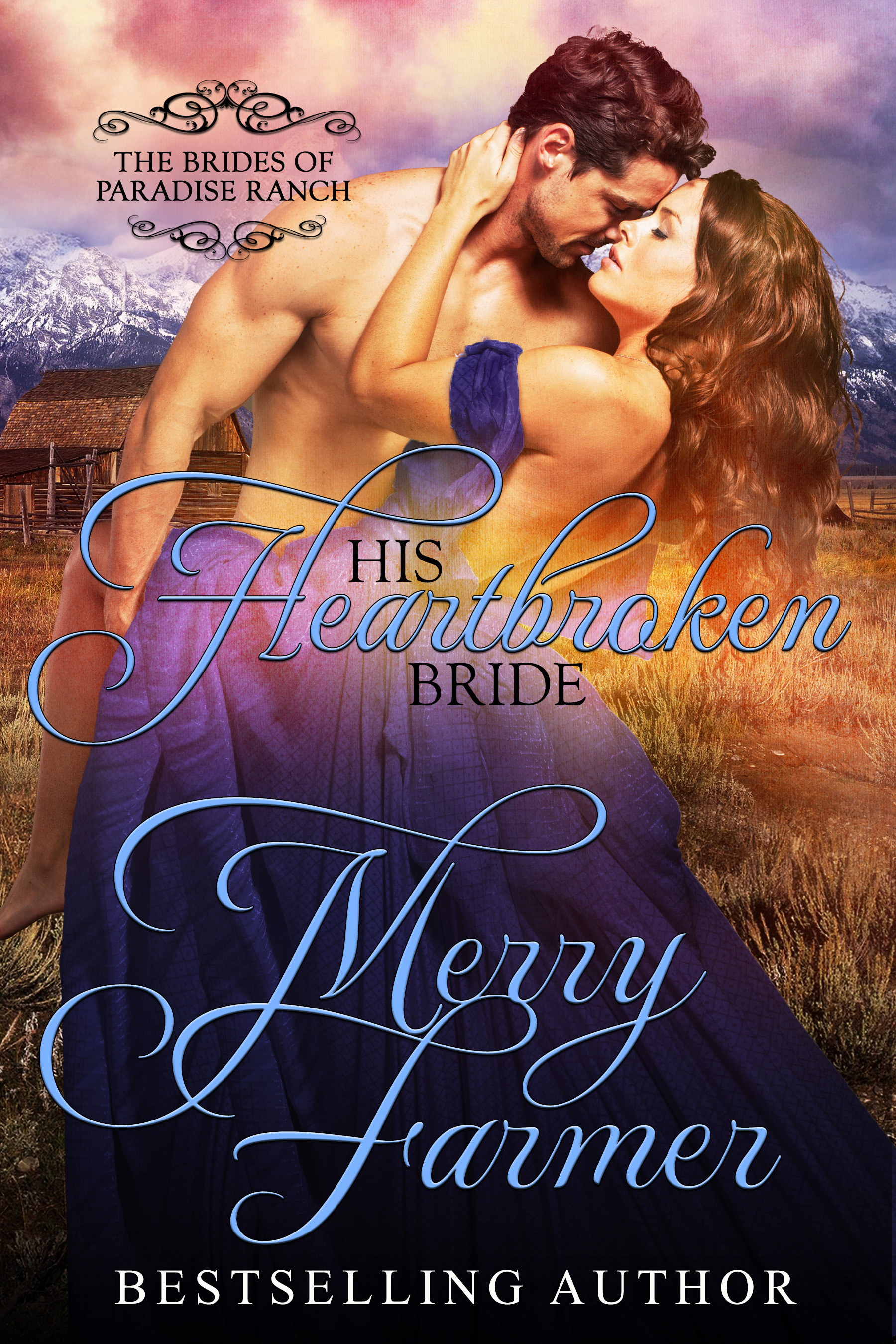 """His Heartbroken Bride (Book 4) - Libby Chance Sims was orphaned, along with her siblings, at an early age, traveled west on the Oregon Trail, and thought she had her fairytale ending when she met and married a good man at trail's end. But ten years later, when her husband is killed in a logging accident, her life takes a horrific turn at the hands of unscrupulous """"family friend,"""" Hector. Fearing for herself and the lives of her two boys, she flees Oregon for Haskell, Wyoming and her family. But has she run far enough to escape her past?Mason Montrose has never forgotten Libby, the beautiful, young bride he fell in love with before realizing she was married ten years ago in Oregon. When she steps down from the train in Haskell, dressed in widow's black with fear in her eyes, all of the affection and longing for her that he thought he put behind him returns. He will stop at nothing to protect Libby from the demons chasing her, both real and emotional, even marrying her to keep her safe.Some demons are more sinister than others, though. When Hector arrives in Haskell, it takes more than the power of Mason's love and devotion to Libby to defeat him, it takes an entire community.PLEASE BE ADVISED: Steam Level = HOTIf you would like to read this story without any """"scenes,"""" check out Libby: The Heartbroken Bride"""