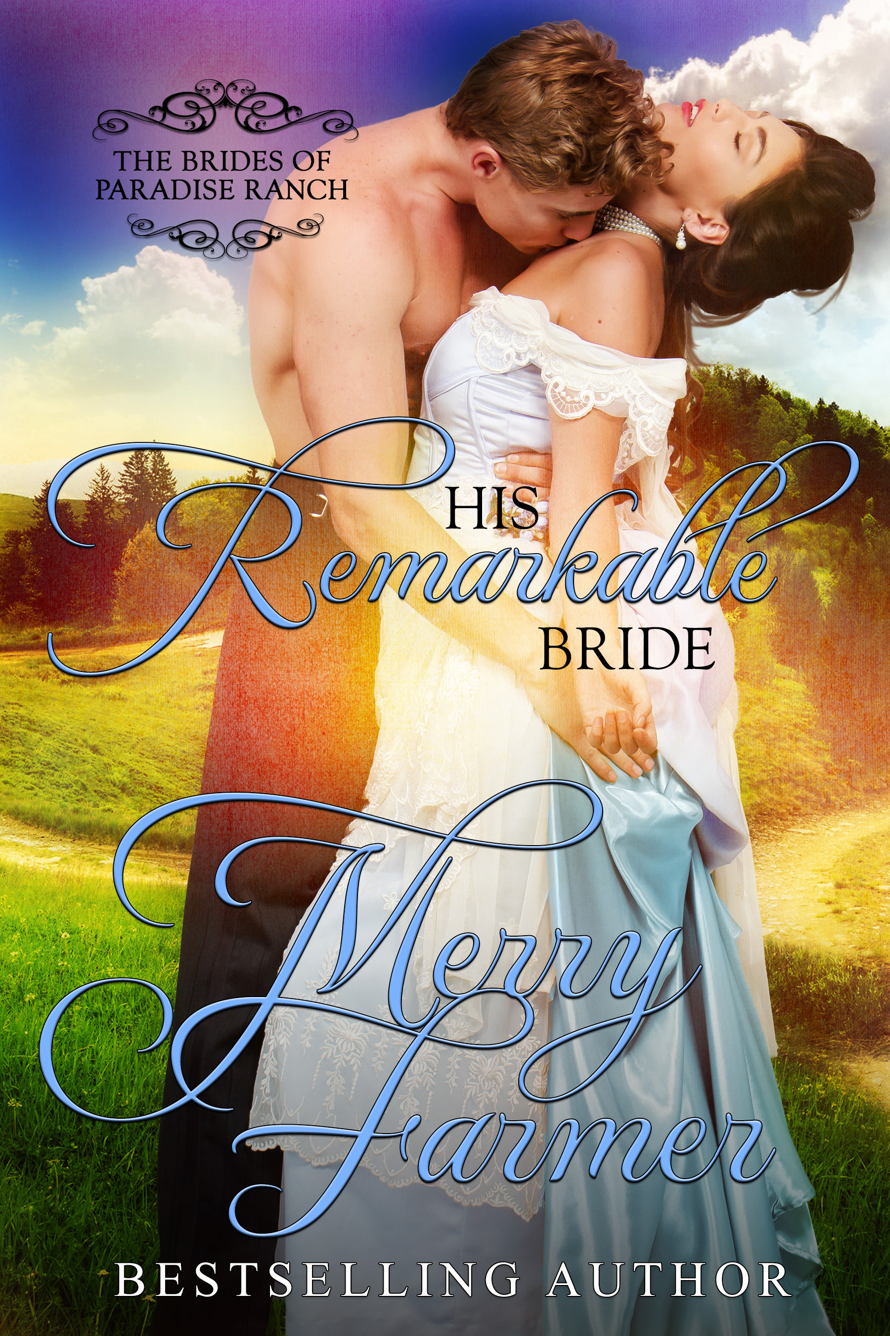 """His Remarkable Bride (Book 6) - Everybody in Haskell, Wyoming knows that railroad stationmaster Athos Strong, widower and father of eight rambunctious children, needs a new bride. Even Athos knows it, but being a single father and a responsible stationmaster doesn't leave him time for romance. It barely leaves him time to remember the hopes and dreams of his younger self. Once, he dreamed of being a hero, a valiant musketeer, like his namesake, but then life took over. He sends away to Hurst Home for a mail-order bride, not expecting anything more than a friend to help him raise his brood. The last thing he expects is love…Elspeth Leonard was once a rising star of the British nobility, until she was seduced into following a wealthy American across the sea. Betrayed, abandoned, and disowned by her family, she has spent the last six years struggling to keep her dignity as a third-rate governess and tutor. Finding Hurst Home was her saving grace. So when she was offered the chance to go west as a bride for a man with eight children, she took it, expecting nothing more than a stable home…But between the lively and mischievous Strong children and the conniving and revenge-seeking Bonneville family, Elspeth has no idea what she's stepping into. When the children are taken away after allegations of neglect leveled against Athos by the Bonnevilles, Elspeth must step up to help Athos fight to keep his family together. What was supposed to be a mutually-beneficial, platonic marriage becomes something much more as both Athos and Elspeth come to see the heroism in the person they've married…The greatest heroes are sometimes found in the most ordinary hearts…PLEASE BE ADVISED: Steam Level = VERY HOTIf you would like to read this story without any """"scenes,"""" check out Elspeth: The Remarkable Bride."""