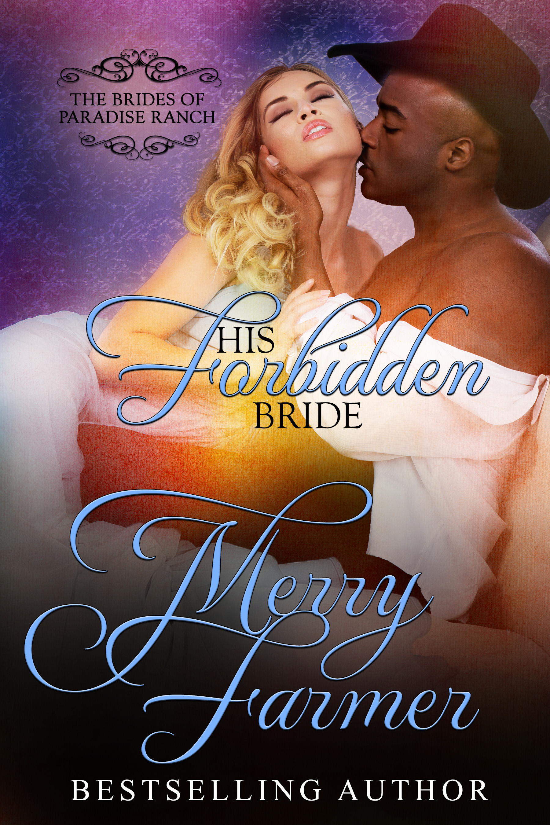 """His Forbidden Bride (Book 7) - Honoria Bonneville is dying. But she isn't about to let her diagnosis of consumption ruin what little time she has left. She's wasted her whole life catering to her obnoxious sisters and uncaring father, but no more. In a move to live the last days of her life on her own terms, she approaches the man she's loved from afar for years, local banker Solomon Templesmith, and asks him to marry her.But Honoria underestimates the scandal of a white woman marrying a black man…Solomon has admired Honoria from afar for ages, but has always held back from courting her, knowing the trouble it would cause. When Honoria comes to him, asking for his protection and friendship, he can't resist giving his heart to her…even though their union threatens to ruin the bank he's worked so hard to build up and possibly endanger his life.Their heartbreaking, trouble-making, perfect match seems doomed to be magnificent but short…until a shocking revelation changes everything…PLEASE BE ADVISED: Steam Level = HOTIf you would like to read this story without any """"scenes,"""" check out Honoria: The Forbidden Bride."""