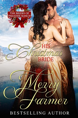 """His Christmas Bride (Book 9) - Rev. George Pickering thought he had put his past as a rich and debauched young man behind him, choosing to serve God and the people of Haskell, Wyoming instead of himself. He's ready to let go of the memory of the girl who left him at the altar ten years ago, and to marry a mail-order bride. But the woman who steps off the train to be his wife turns out to be the same woman who left him heartbroken all those years ago…Holly Hannigan only journeyed to Haskell so that she could apologize at last for breaking George's heart and leaving him. The last thing she expects is for George to want to go through with their union. Ten years after running out of the church, convinced she couldn't marry a man who she loved but who didn't love her, she ends up becoming his wife…But there is a world of difference between saying """"I do"""" and learning how to forgive the mistakes of the past. Matters are complicated when a new minister in town threatens to take George's congregation away from him, right before Christmas. It will take a Christmas miracle to bring two damaged souls together in time to fight an even greater evil…PLEASE BE ADVISED: Steam Level = HOTIf you would like to read this story without any """"scenes,"""" check out Holly: The Christmas Bride."""
