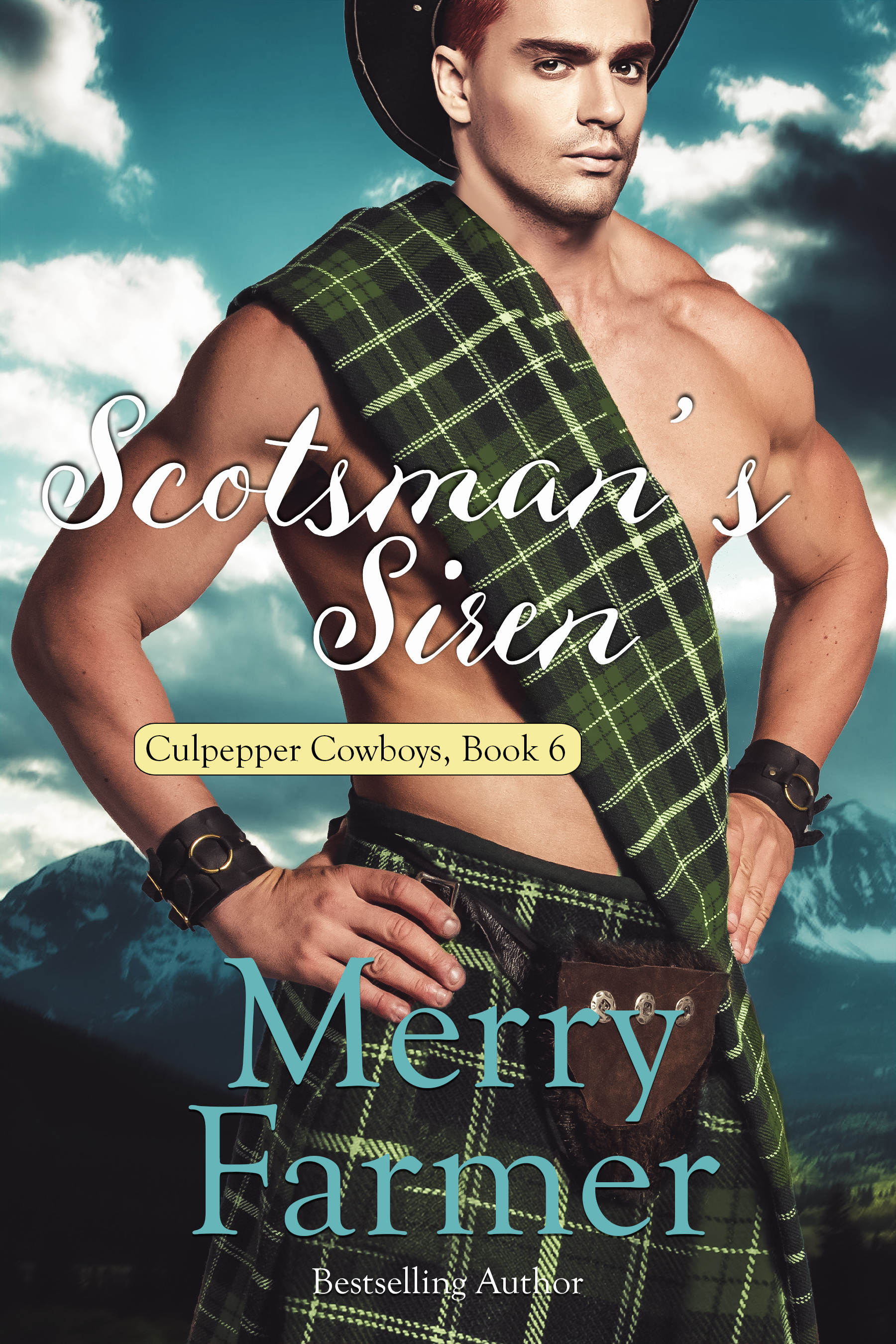 Scotsman's Siren (Book 6) - From the day she was born, Honor Quinlan was forced to live up to impossible standards. Her twin, Grace, was always more feminine, more obedient, and more appreciated, while she was always reminded of how wicked and willful she was. So when she is given the chance to get away from her parents' iron rule, to move out to the Culpepper ranch in Wyoming—where her older sisters had married the Culpepper cowboys—and to marry rancher, Angus MacFarlane she runs for it.But no one who was raised the way Honor was escapes unscathed.All Scotsman Angus MacFarlane has ever wanted is a large, loving family, unlike the one he was raised in. He would give his life for Linda Culpepper and her sons and their ranch, especially when it comes to thwarting the machinations of the dastardly cousin Travis. But when Honor sweeps into his life, everything changes.For Angus, it's love at first sight. But can he help her overcome the scars of her childhood and teach her to trust him?PLEASE BE ADVISED: Steam Level: HOT