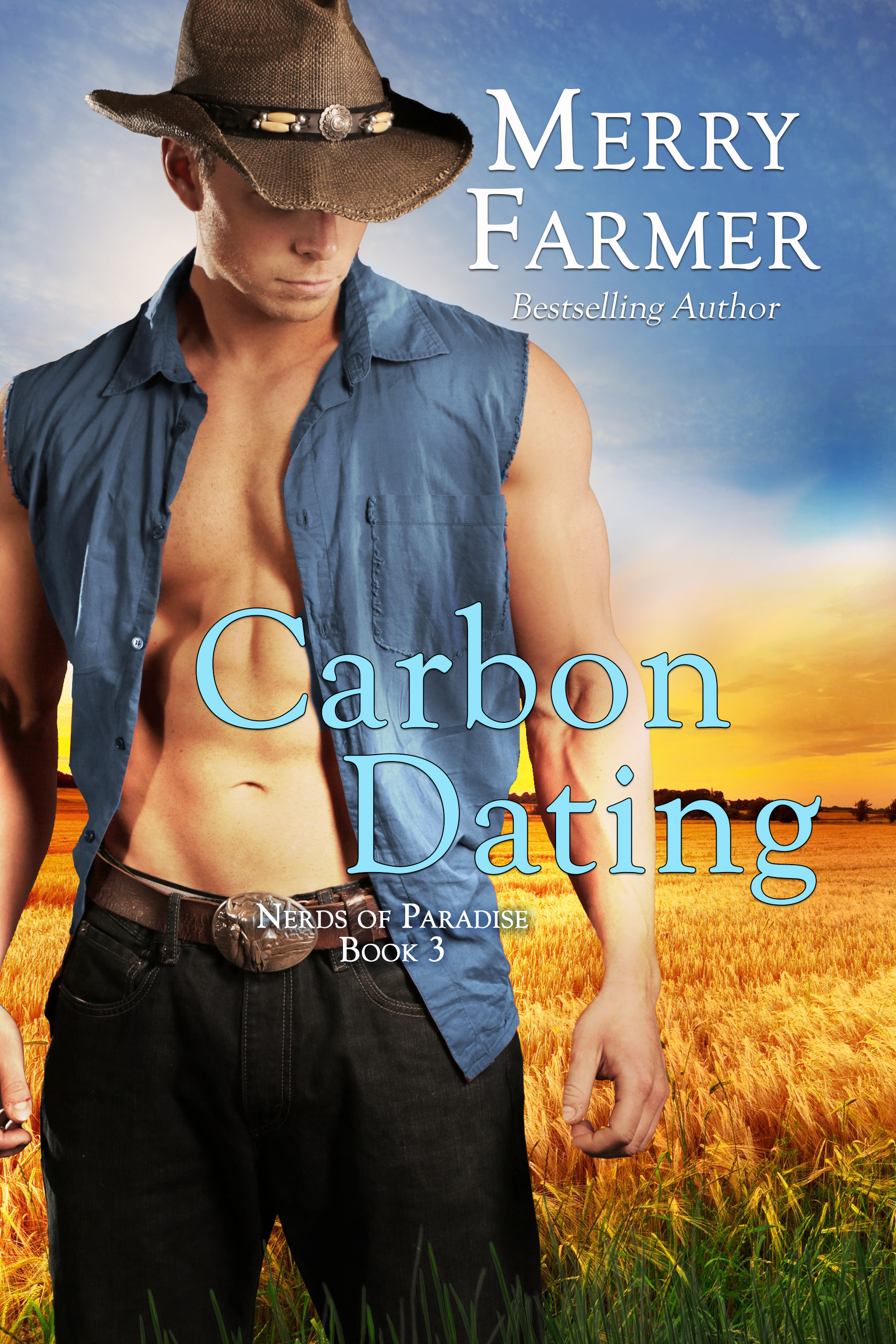 Carbon Dating (Book 3) - A boy… A girl… A dinosaur…Laura Kincade is a nerd, and proud of it. She designs rockets, she hunts for dinosaur fossils, and she knows who she is. So when sizzling cowboy Ted Flint bumps into her at a party—literally, with messy results—she instantly feels out of her depth. Could a guy like Ted really be interested in a girl like her? It certainly seems like it when he invites her out to his ranch to take a look at his bone.*ahem* His DINOSAUR bone.Ted has never met anyone like Laura. She's funny, smart, and adorable. So why is she playing so hard to get? He has a harder time getting her to say yes to a date with him than he has digging up the fossil Laura discovers on his ranch. If not for ice cream, all would be lost.But when the value of the fossil leaks to the community, Ted suddenly finds himself fighting to keep it and the ranch, and Laura too. The Bonnevilles will stop at nothing to claim the discovery for themselves, and Ted and Laura find themselves in danger of losing the battle, and each other too.A boy… A girl… A dinosaur… And love.PLEASE BE ADVISED: Steam level - Very Hot