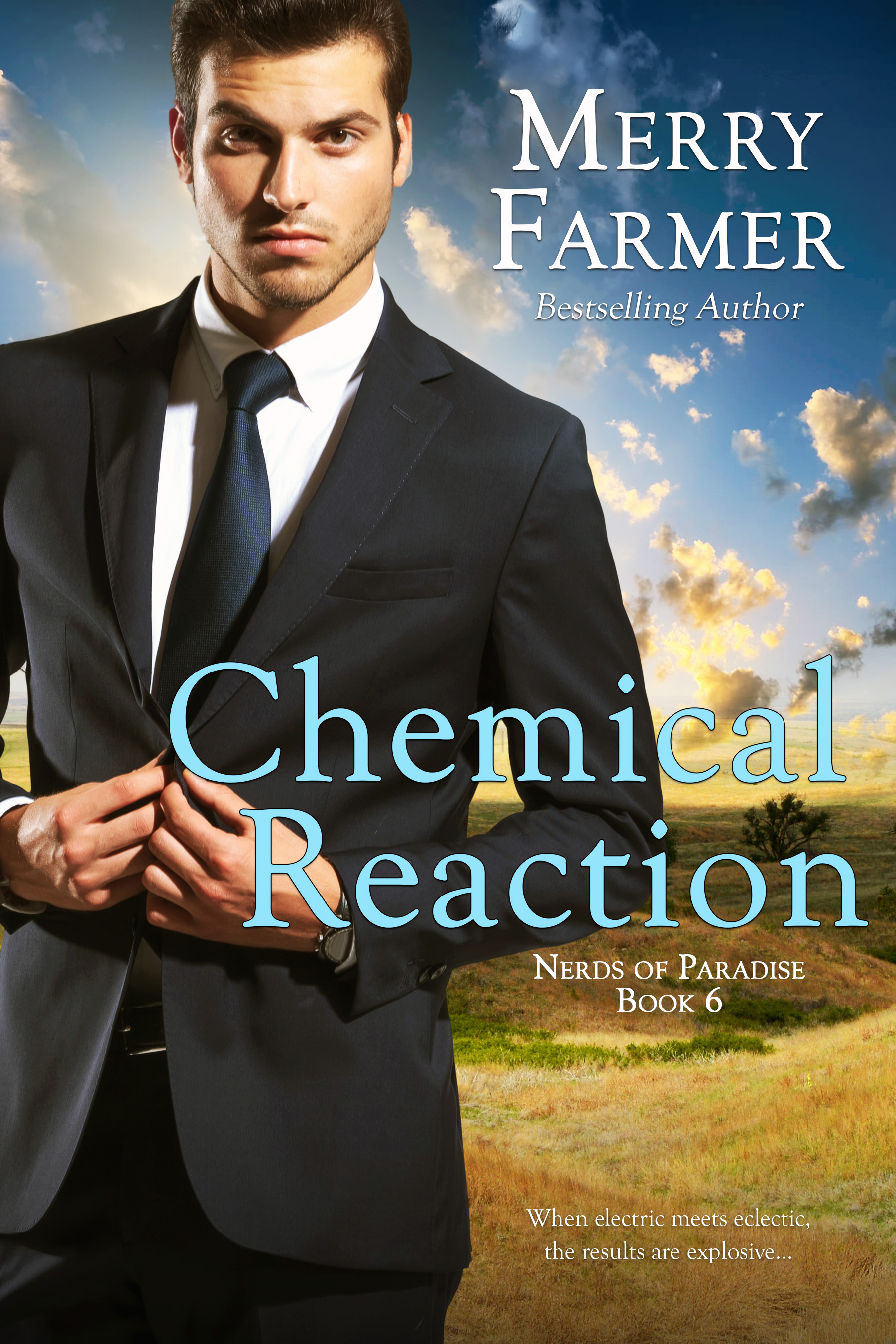 Chemical Reaction (Book 6) - Calliope Clutterbuck has always been the life of the party, a veritable friend-magnet. Except for that time in eighth grade when her former bestie, Kathy Standish, stole her boyfriend at the Templesmith's pool party. But that's all water under the bridge, right? She's and adult now and approaches life rationally and maturely.Except that her sister and her close friends are all now in relationships, leaving her the perpetual third wheel. And guess who just moved back to town? Yep, Kathy.Jonathan Cross has had his eye on Calliope almost from the moment he moved to Haskell to work for Paradise Space Flight. But his job—and his position as Howie's go-to event organizer—has kept him too busy to do anything about it. Until he is able to literally rescue Calliope and sweep her off her feet.So they finally get together and date happily ever after, right?If only it were that easy!When Jonathan takes on a leadership role in Howie's fall mixer, renovating old Haskell buildings, he naturally picks Calliope to be his right-hand woman. But old wounds and new rivalries abound when Kathy also ends up smack in the middle of the project. Can Calliope and Jonathan's fledgling relationship overcome the pain of the past, or will insecurity end it before it takes off?PLEASE BE ADVISED: Steam level - HOT