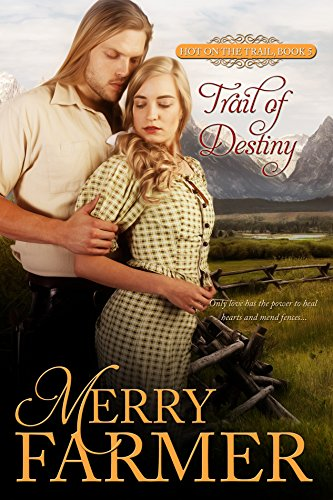 Trail of Destiny (Book 5) - Young widow, Alice Porter, never thought she would fall in love again, and that her family's journey along the Oregon Trail was the end of her story. Rugged militiaman, Jarvis Flint, never thought he would fall in love in the first place, even though he is determined to be a man of honor and to do his duty. But sometimes the things you never think will happen are the ones that hit you when you aren't looking.When a routine rest along the trail turns into an opportunity to stop a land war between feuding brother and sister ranch owners, Alice finds herself draw into an adventure her grieving heart isn't prepared for. More than an adventure, as she and Jarvis work together to resolve the siblings' dispute, they find themselves battling a passion that neither can deny. In competition with each other and with themselves, they fight to uncover a love that is worth sacrificing for and a life after heartbreak.Only love has the power to heal hearts and mend fences….PLEASE BE ADVISED: Steam Level - Hot