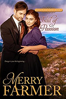 Trail of Passion (Book 7) - Lucy Haskell has a passion for danger and isn't afraid to let everyone know it. The Oregon Trail is the perfect way for her to travel home to her father's ranch in Wyoming, and to meet new friends and talk their ears off along the way. But Lucy's talking and risk-taking masks a darker fear—that no one could possibly love or even like a woman as unconventional as her.All that changes when Gideon Faraday stumbles into her life…Dr. Gideon Faraday is a scientist: intelligent, handsome, reserved, soft-spoken… and a murderer. He's heading west to atone for the lives he's taken, and the last thing he wants is to make friends on the trail or to fall in love. But from the moment he sees bubbly, daring, beautiful, fearless Lucy, he's smitten.Gideon and Lucy can't fight the passion that pulls them together—with scandalous consequences—but when a mysterious stranger joins their wagon train and Gideon's life is in jeopardy, it will take all the daring Lucy possesses to keep Gideon alive.Danger is just the beginning…PLEASE BE ADVISED: Steam Level - Very Hot