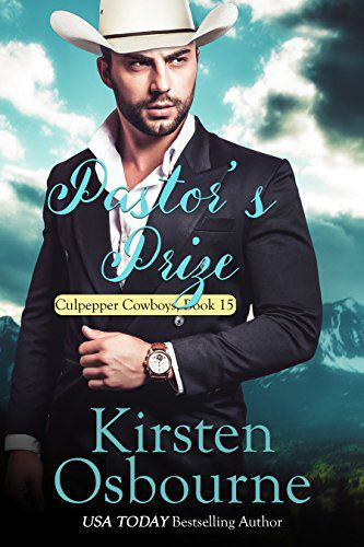 Pastor's Prize (Book 15)by Kirsten Osbourne - Rikki Dobson has spent her whole life living in her famous sister's shadow. When she moves to Culpepper, Wyoming to recover from a harrowing experience, it's the last place in the world she expects to find love. Working at a bakery with three loving women makes life easier, but she's still afraid of the world around her. When Pastor Benjamin, the handsome new associate pastor sits beside her in church, she doesn't know whether to be happy or frightened.Ben Norton isn't looking for love. He's happy with his new job as assistant pastor and counselor for a small church in Culpepper. He's met the beautiful Rikki a couple of times, but it isn't until he sits beside her one morning that he realizes there is something more to her than meets the eye. Will Rikki be able to overcome her fears? Or will the two of them spend the rest of their lives alone?