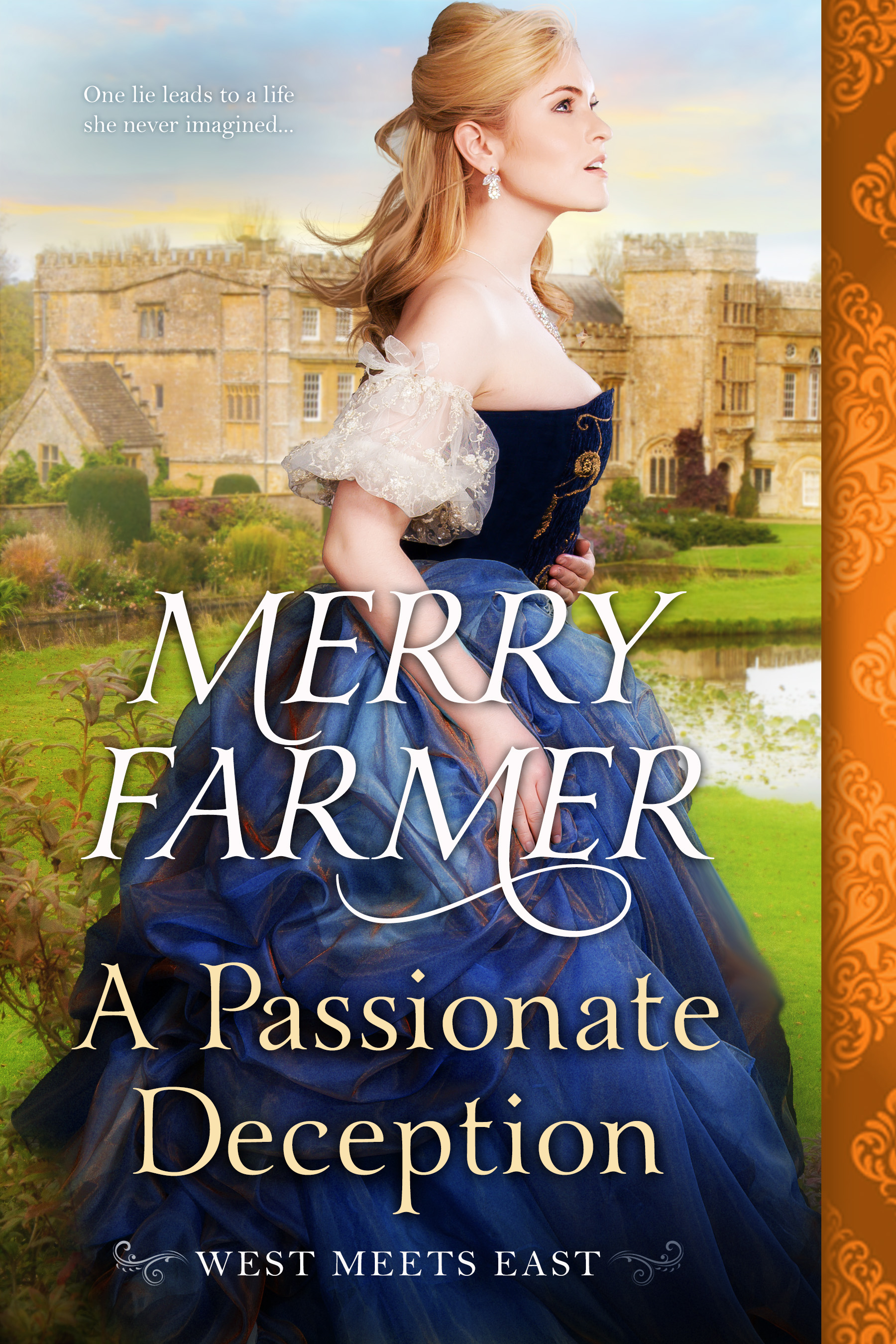 A Passionate Deception (Book 5) - Ellie Braun is on her way from the Old West to England to start a new life as lady's maid to American heiress Helena Mortimer. But when Helena runs off with one of the porters from the ship as soon as they dock in London, it's up to Ellie to smooth things over with Lord Henry Howsden, Helena's fiancé. But instead of being disappointed, Lord Henry concocts a plan for Ellie to impersonate Helena in order to fool his family. A former soiled dove pretending to be a wealthy heiress in the household of a marquis? What could go wrong?Henry Howsden has resented his father's attempts to sell him in marriage to a woman he's never seen from day one. By introducing Ellie to his family as Miss Mortimer, letting them fall in love with her, then revealing her true identity, he intends to prove to them that common people have worth, and that marriage is not a game. But almost from the start, he falls in love with the beautiful, clever, and free-spirited Ellie. She is everything that he has never been permitted to be, and all too soon he can't imagine a life without her.But the gulf between an ex-prostitute and a British nobleman is an enormous one, and the passion that develops between Ellie and Henry may prove to be as impossible as it is undeniable.PLEASE BE ADVISED: Steam level – HOT