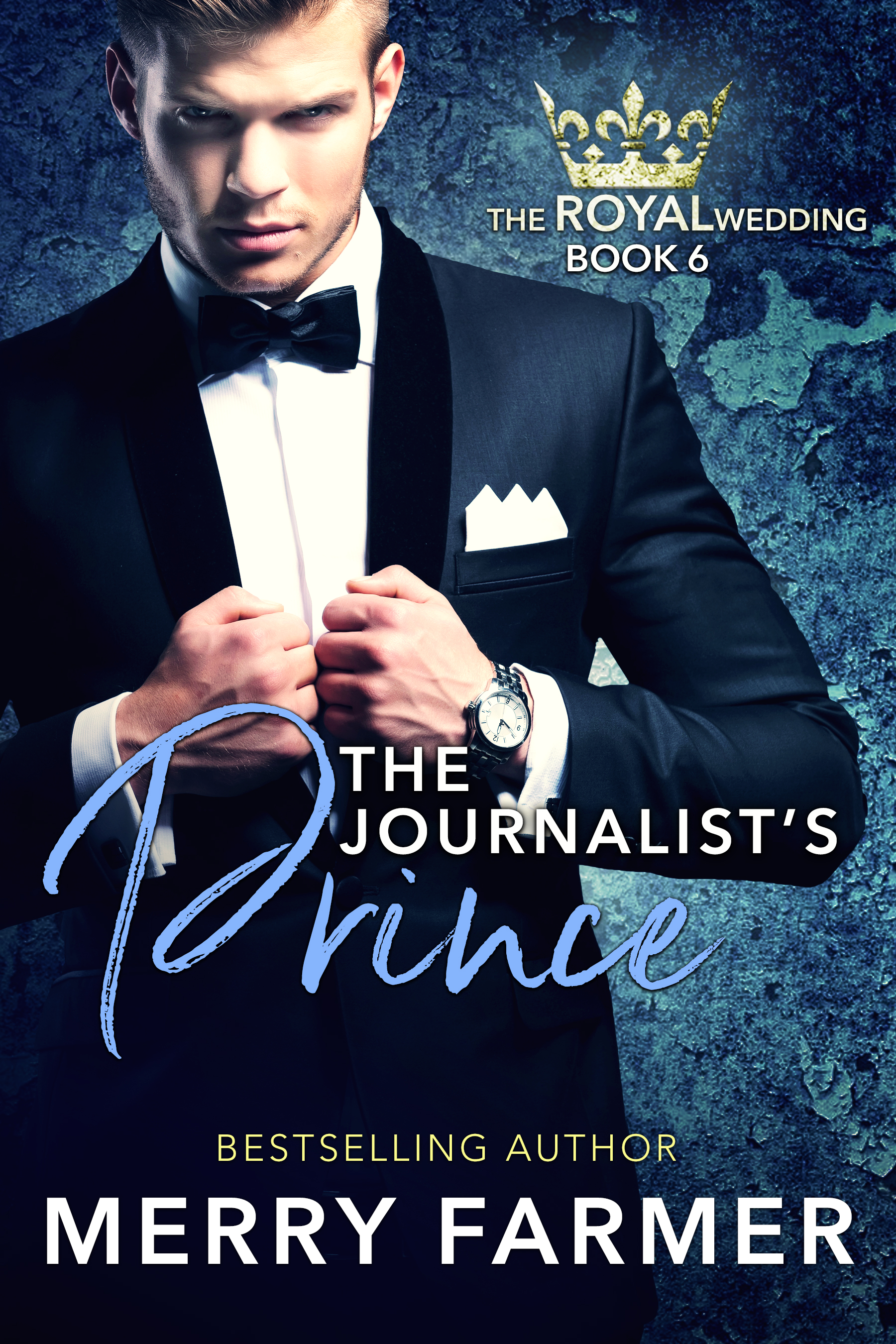 """The Journalist's Prince - by Merry Farmer (Book Six) - A Prince, a Journalist, and eighteen hours to save the royal wedding….As the youngest member of the Aegirian royal family, Prince Johannes Magnusson takes his responsibility to his family seriously. So when his mother's wedding seems doomed at the last minute, he will stop at nothing to set things right. But when a prominent member of the royal family goes missing under suspicious circumstances, the search for answers uncovers more than anyone bargained for.Journalist Tracy Minhall has embraced the island kingdom of Aegiria as her new home, mostly because of her intimate connection to Prince Johan. So when he needs her help to solve a royal mystery, she jumps at the chance to face danger. But not everyone is happy with her risk-taking ways, and the truths she uncovers could tear the royal family apart forever.Will the royal wedding happen at last, or will the truth spell the end for the Aegirian monarchy?PLEASE BE ADVISED: Steam Level – Hot…including one """"open door"""" scene."""