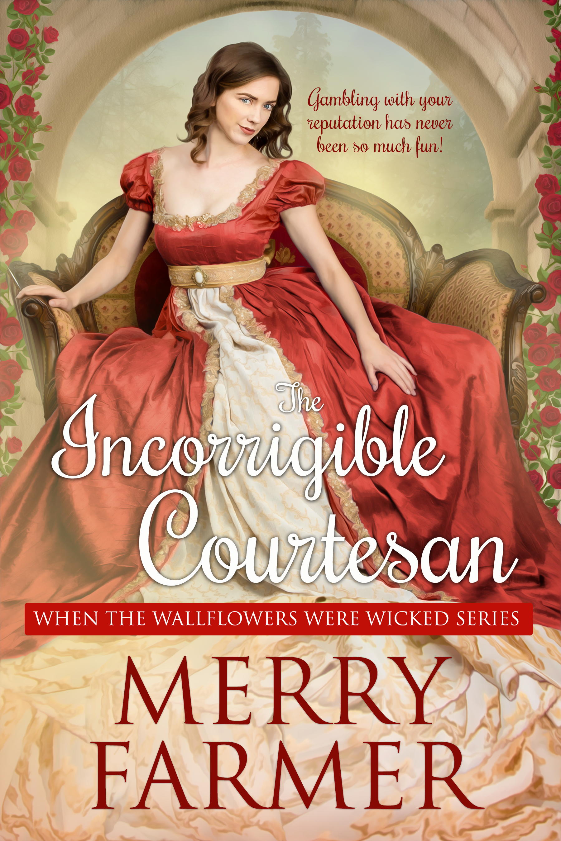 Incorrigible Courtesan (Book Two) - Gambling with your reputation has never been so much fun!The Disaster at Almack's was the beginning of the end for Miss Honor Barnes, even though her part in it was small. With her reputation in tatters, she must look for ways to secure her comfort and safety…which is where wealthy tradesman, Sebastian Boothe, comes in. And if it means a daring gamble at the card table to win her way into his bed, it's a chance she's willing to take.Sebastian is just enough of a rake to bow to Honor's wicked wishes, but he has more than fun on his mind. His entire fortune is in danger, thanks to the underhanded machinations of Lord James Grey. With time running out to prove he is the rightful owner of the profits of his recent trade mission to India, he is faced with the impossible unfairness of a commoner challenging the nobility.But Sebastian has an ace in his corner in the form of Honor and her skills. Together, they can set a trap to take down the most notorious cheat in the ton…if Sebastian can learn to trust Honor first.A light-hearted, fun, SUPER steamy, Regency romp—a quick read, not to be taken too seriously.PLEASE BE ADVISED – Steam Level: Five-Alarm Fire with a generous helping of F-bombs. Don't say you weren't warned.