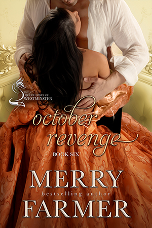 October Revenge (Book Six) - For decades, Lord Mark Gatwick has been known as the best friend of nefarious villain, Lord Theodore Shayles. But the truth is that Mark couldn't despise Shayles more. After executing his revenge against Shayles for a nightmarish event that happened over twenty years ago, Mark is on the verge of finding the peace that has eluded him his whole life. Until a bride he never wanted shows up on his doorstep…Angelica LeClair has faced many challenges growing up as the daughter of a black man and a white woman, not quite light-skinned enough to pass, in her Louisiana home. But her biggest challenge of all comes with the shock of learning that, in order to inherit the money she desperately needs to keep from falling into destitution, she must travel to England to marry a distant cousin she's never seen. She is determined to make the best of a bad situation.Until she discovers that her groom is in catastrophic danger…When Lord Shayles is released from prison, he vows to stop at nothing until Mark is dead. When Shayles learns about Angelica, his deadly intentions take a sickening turn. Mark must risk his life for the woman he never expected would be his last chance for redemption and happiness.PLEASE BE ADVISED: Steam Level – Very Hot