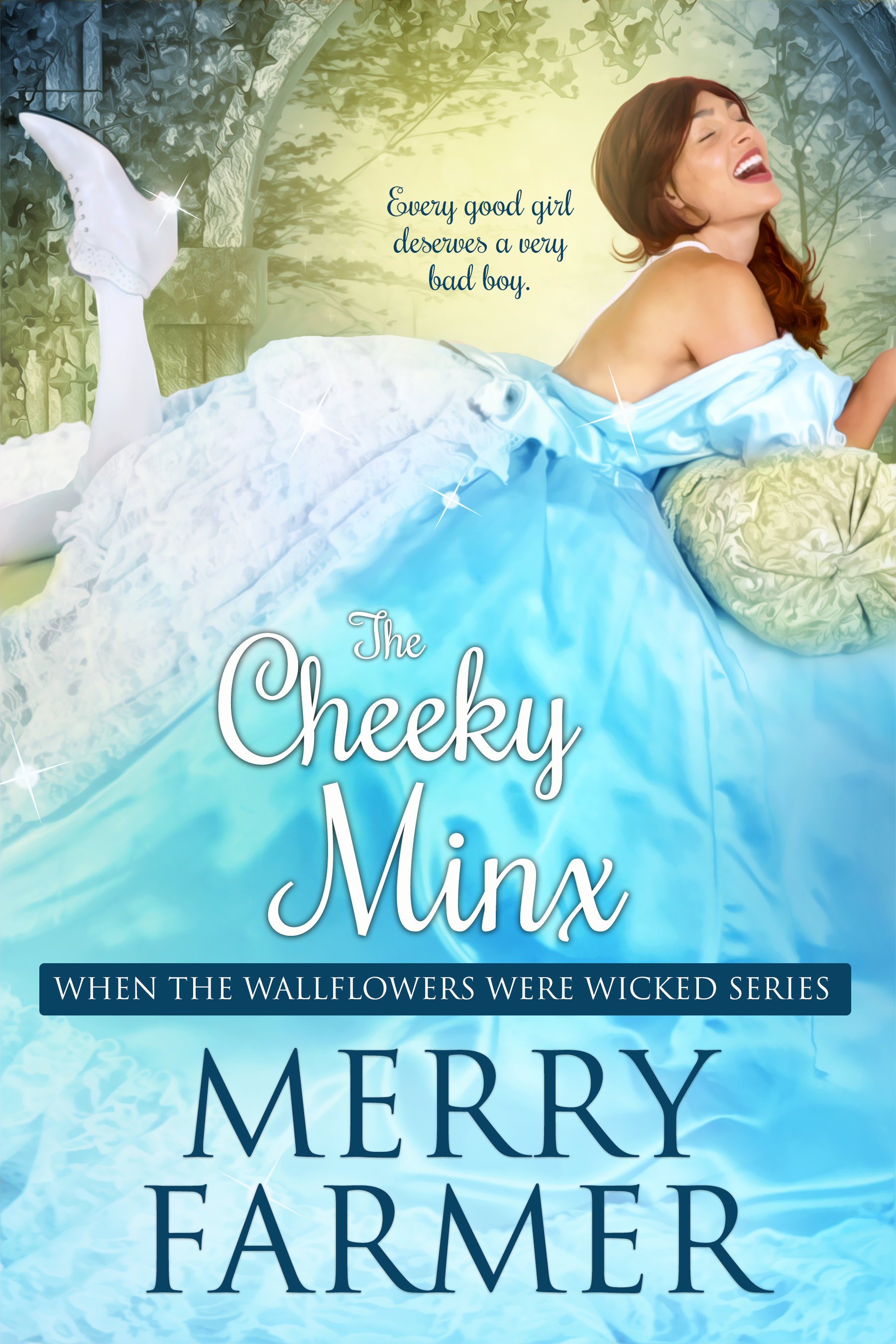 The Cheeky Minx (Book Five) - Every good girl deserves a very bad boy…After one little moral slip, Miss Josephine Hodges was banished to Miss Dobson's Finishing School to mend her ways. What could have been a misery has turned into a blessing in disguise as she helps her friends investigate the theft of a priceless diamond. But when Jo's mother arrives at the school to inform her she's been promised in marriage to none other than that notorious Lord Lichfield, Jo is in shock. How could she possibly marry the man she suspects of stealing the diamond?Lord Felix Lichfield is desperate for a wife after rumors of his wickedness cause his fiancé to call off the engagement, but he never suspected his mother would stoop so low as to find a bride for him without his involvement. But when he meets the feisty Miss Hodges, things begin to look up. Except that he suspects his new fiancée has heard all about his reputation and wishes embrace it just when he would do anything to put that part of his life behind him.There is more going on than meets the eye, though, and when Jo and Felix team up to hunt the diamond thief—and to explore their passions while they're at it—anything could happen.A light-hearted, fun, SUPER steamy, Regency romp—a quick read, not to be taken too seriously.PLEASE BE ADVISED – Steam Level: Five-Alarm Fire with a few F-bombs. Don't say you weren't warned.
