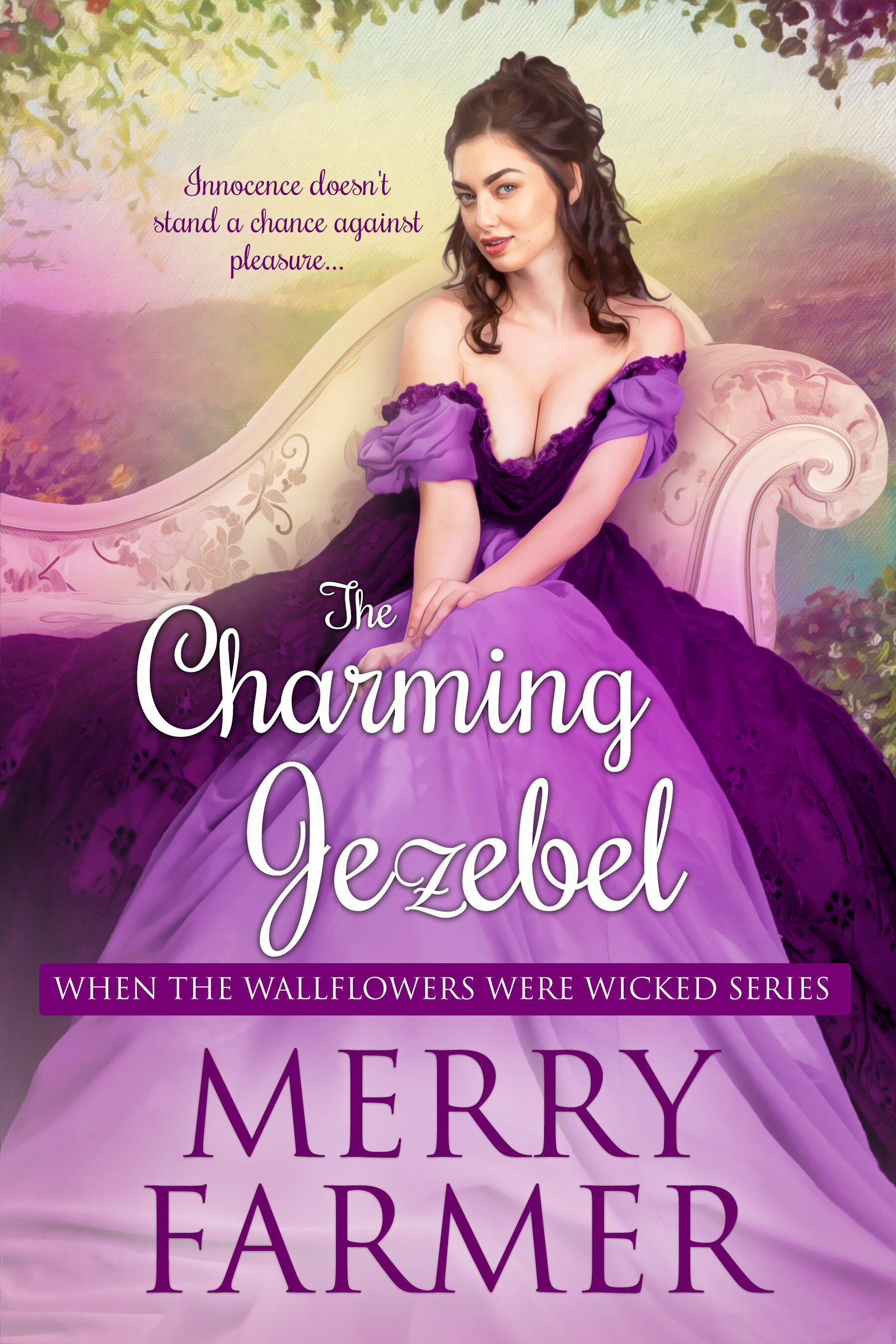 The Charming Jezebel (Book Nine) - Innocence doesn't stand a chance against pleasure….Lady Ophelia Binghamton has been the definition of a wallflower her entire life. She has always paled in comparison to her livelier friends in all of their adventures. So how can her Aunt Millicent possibly expect her to catch the eye of a suitable gentleman with marriage on her mind? She is much more content to search Hadnall Heath for the lock that fits the mysterious key she discovered at the beginning of the summer house party. And to rescue the Marlowe sisters from a fate worse than death, of course.Prince Saif Khan joined his friends at the infamous house party solely for the purpose of pleasure, but the moment he meets Lady Ophelia, his heart is in serious danger of something much more serious than fun. And when Ophelia appeals to him to help the Marlowe sisters escape from their horrible father and even more horrible suitors, he commits himself to the mission with enthusiasm.But can an Englishwoman and an Indian raja's son find true happiness? Or will fate keep them apart?PLEASE BE ADVISED – Steam Level: Five-Alarm Fire with a few F-bombs. Don't say you weren't warned.