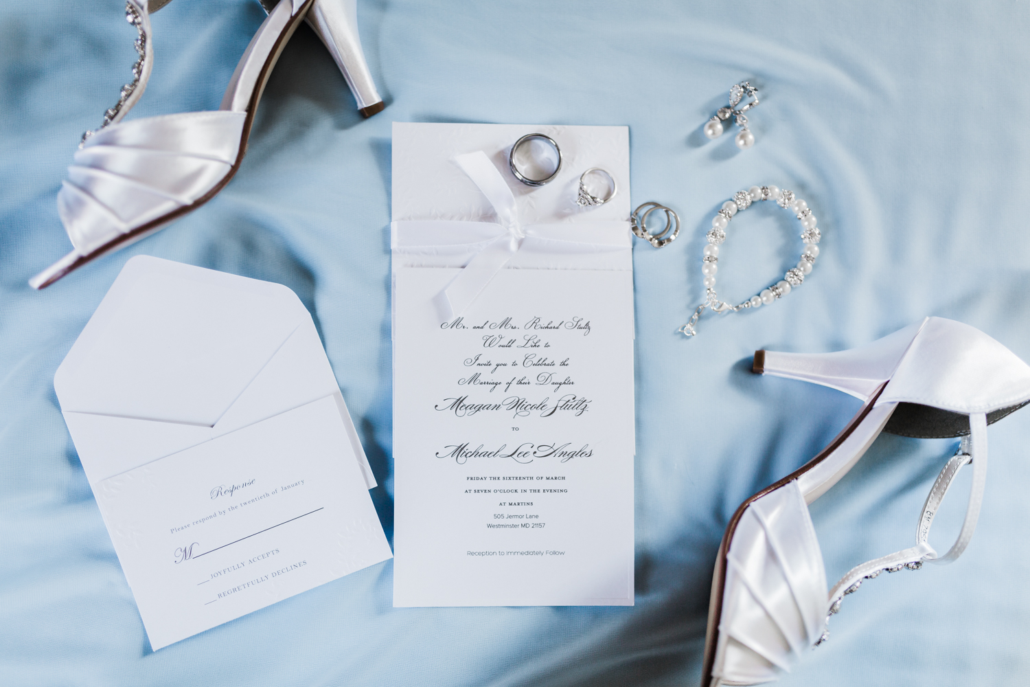Wedding day details and invitation suite