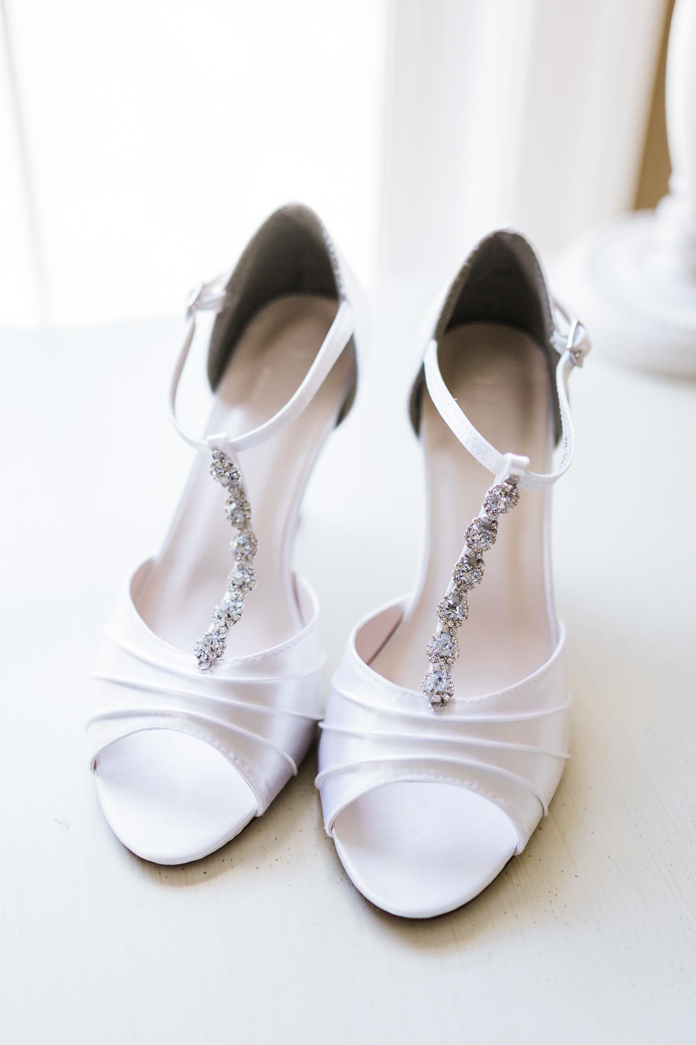 Classic bridal shoes Maryland Wedding