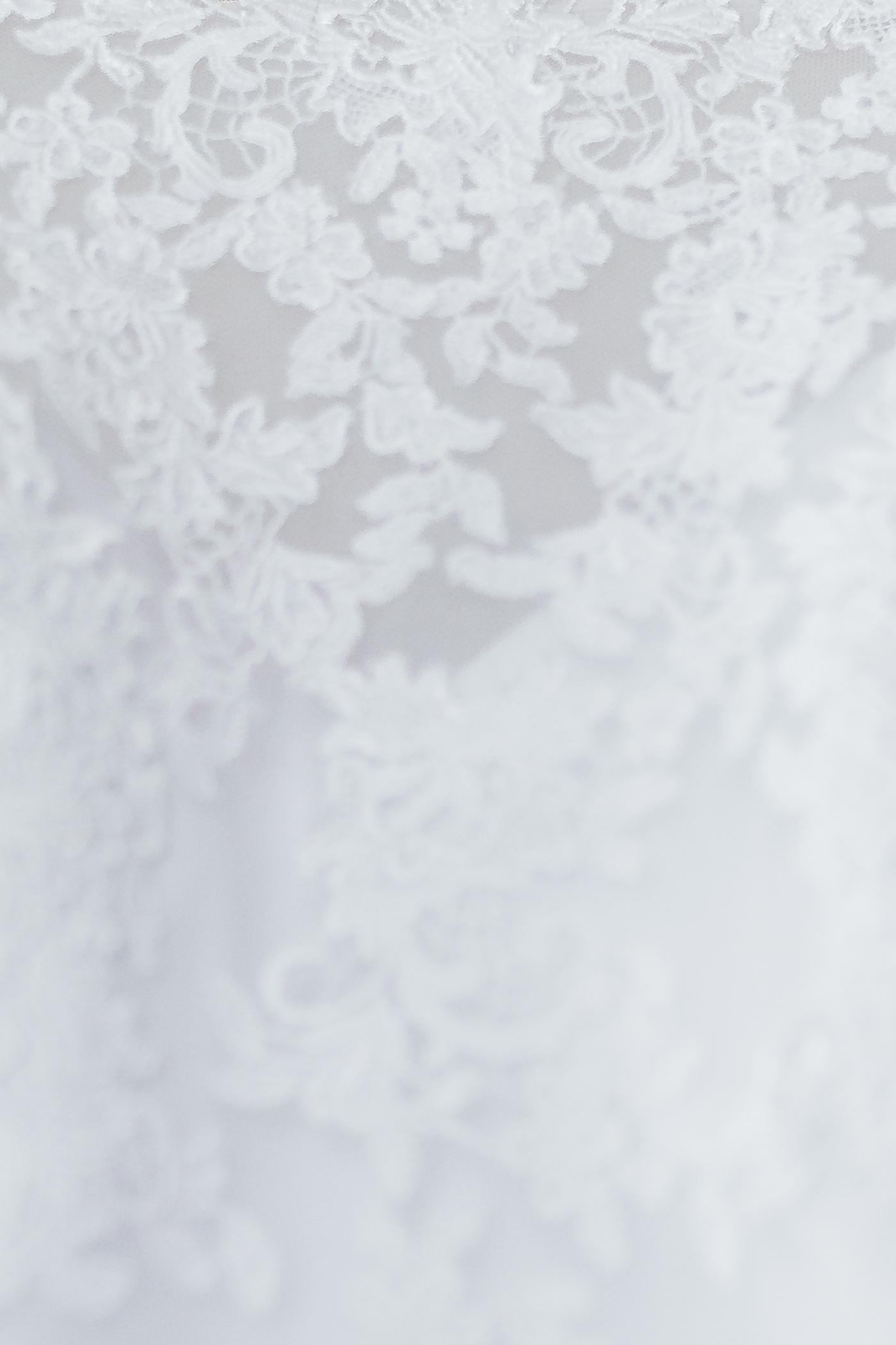 Lace details of wedding dress Maryland wedding