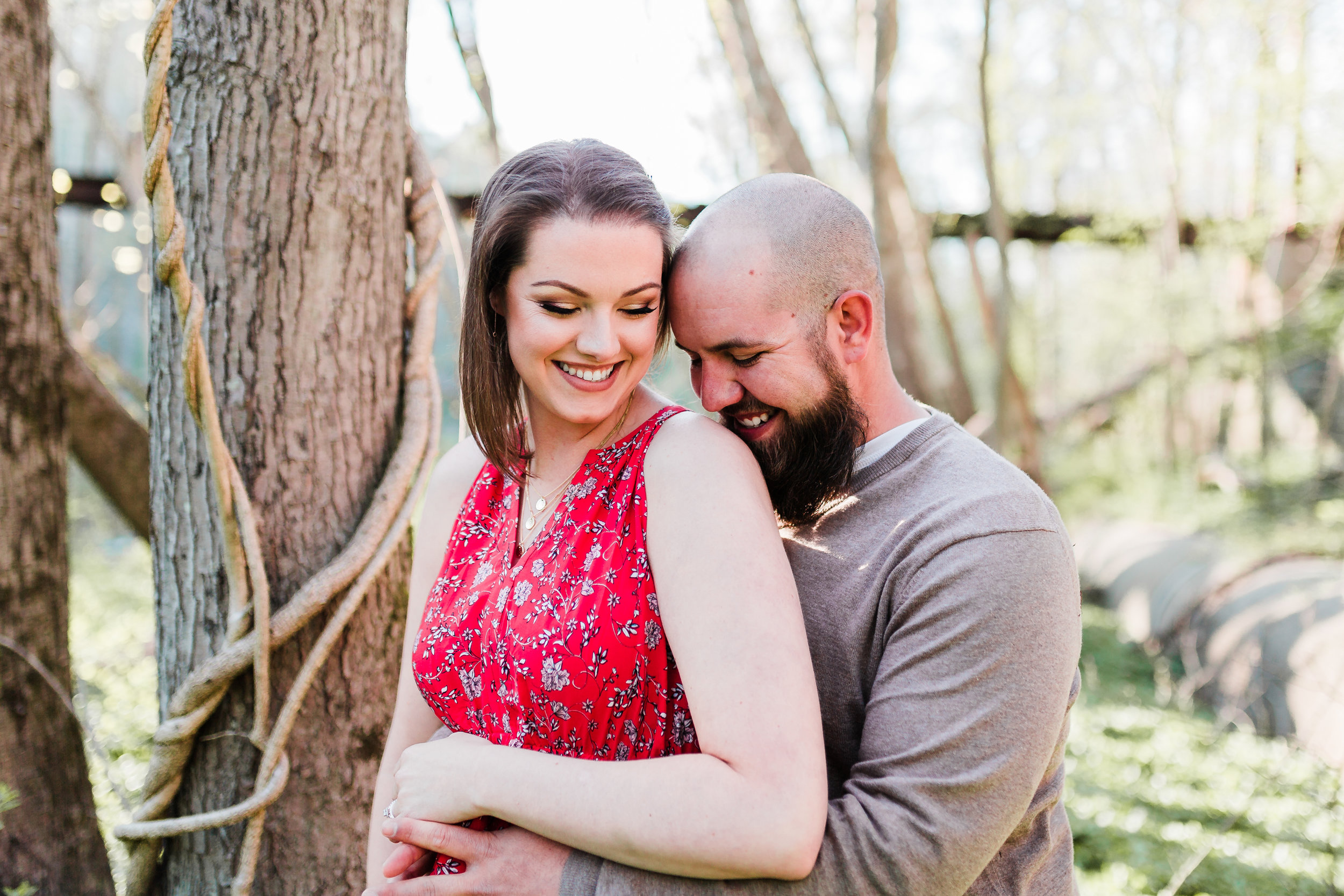 engagement session in elkridge maryland photo of couple laughing and hugging