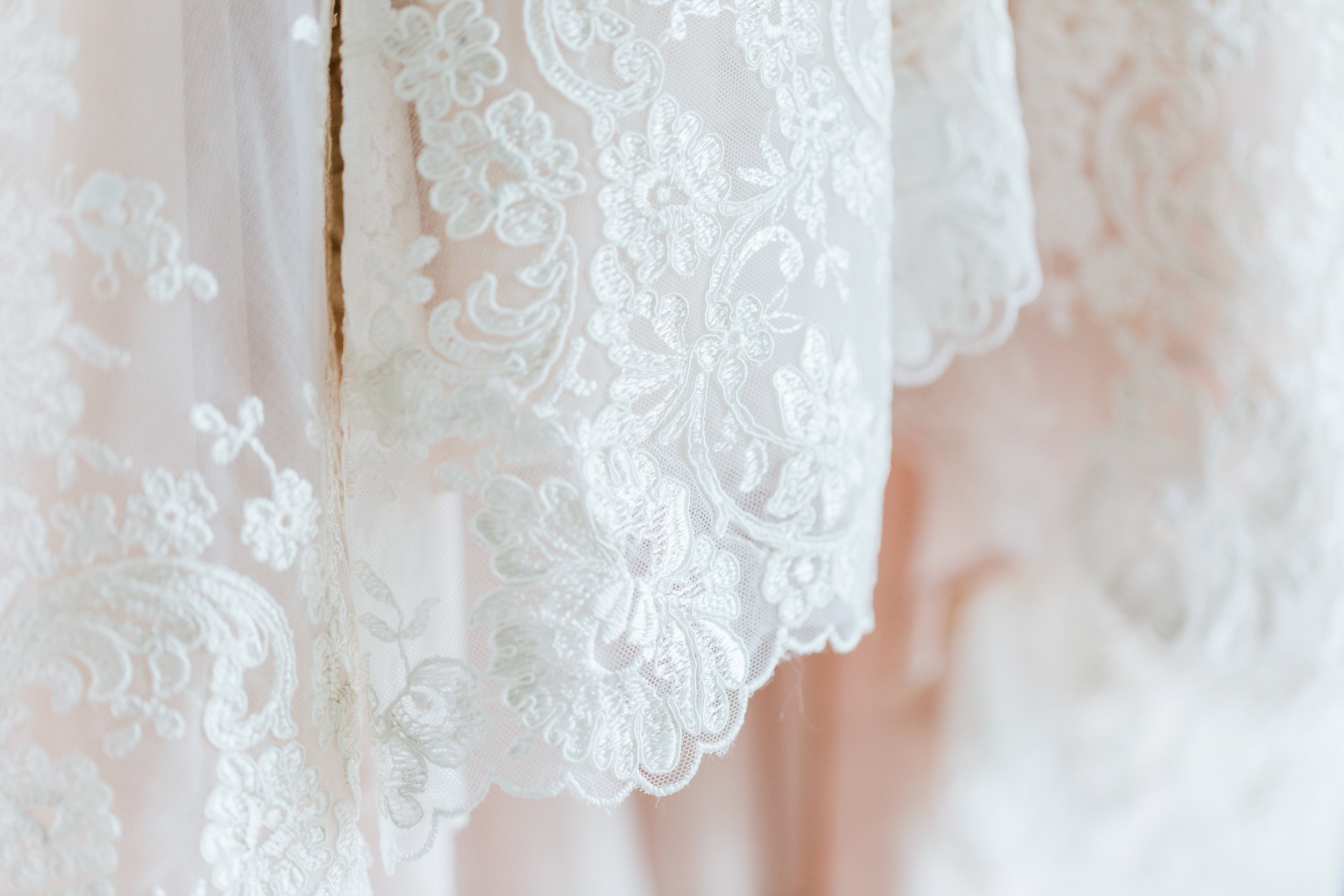 wedding gown lace detail