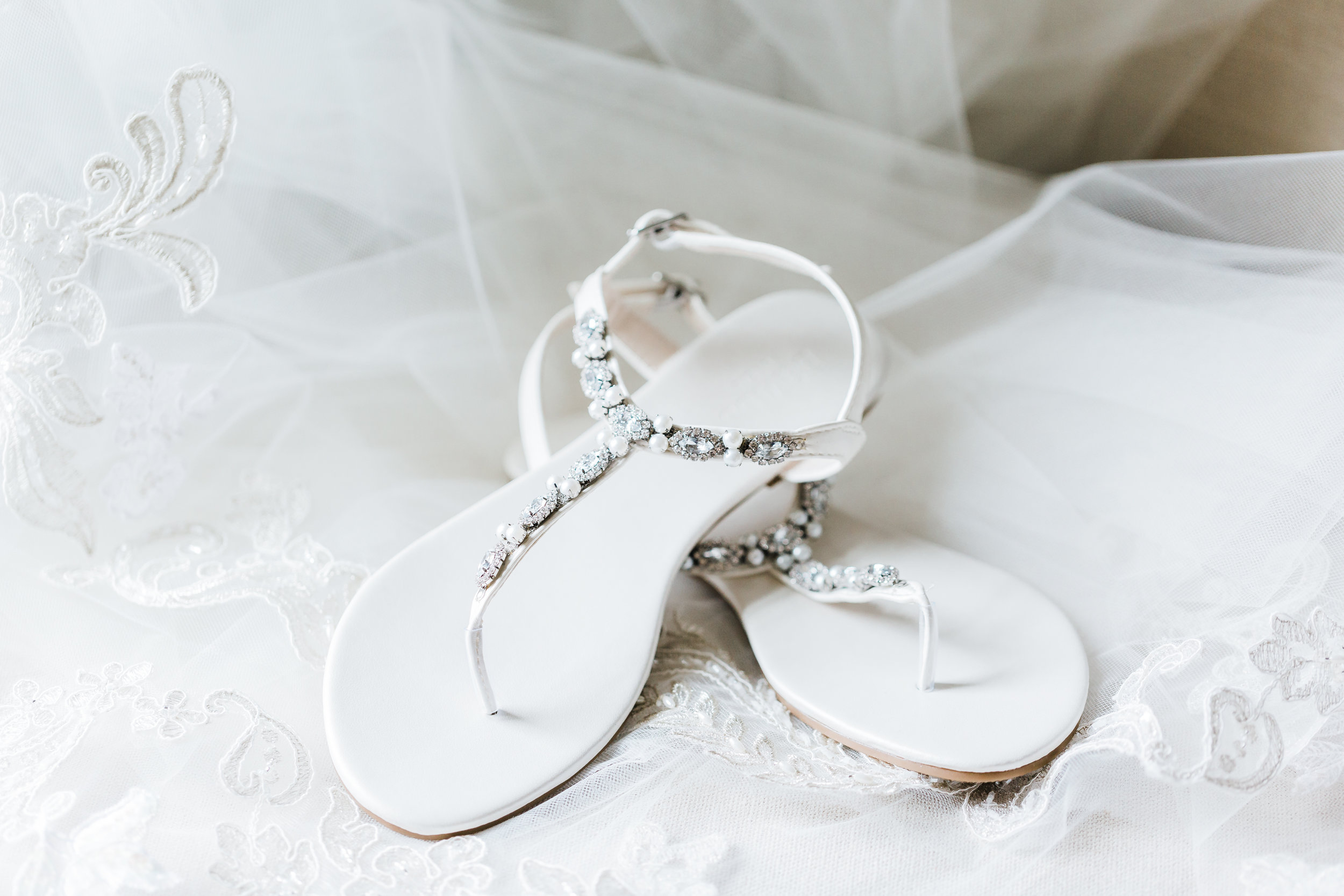 bridal shoes and details