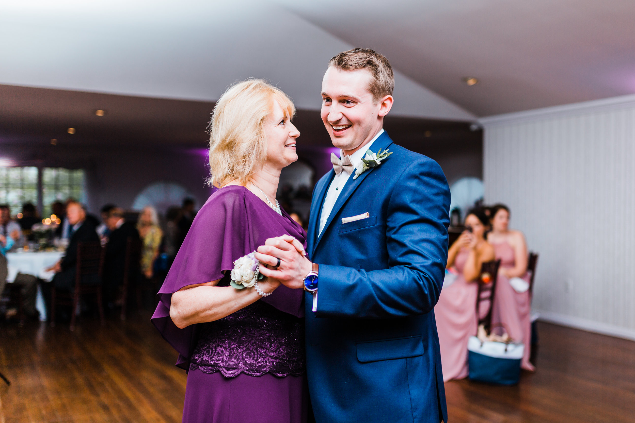 groom and his mom share their mother son dance in carroll county md