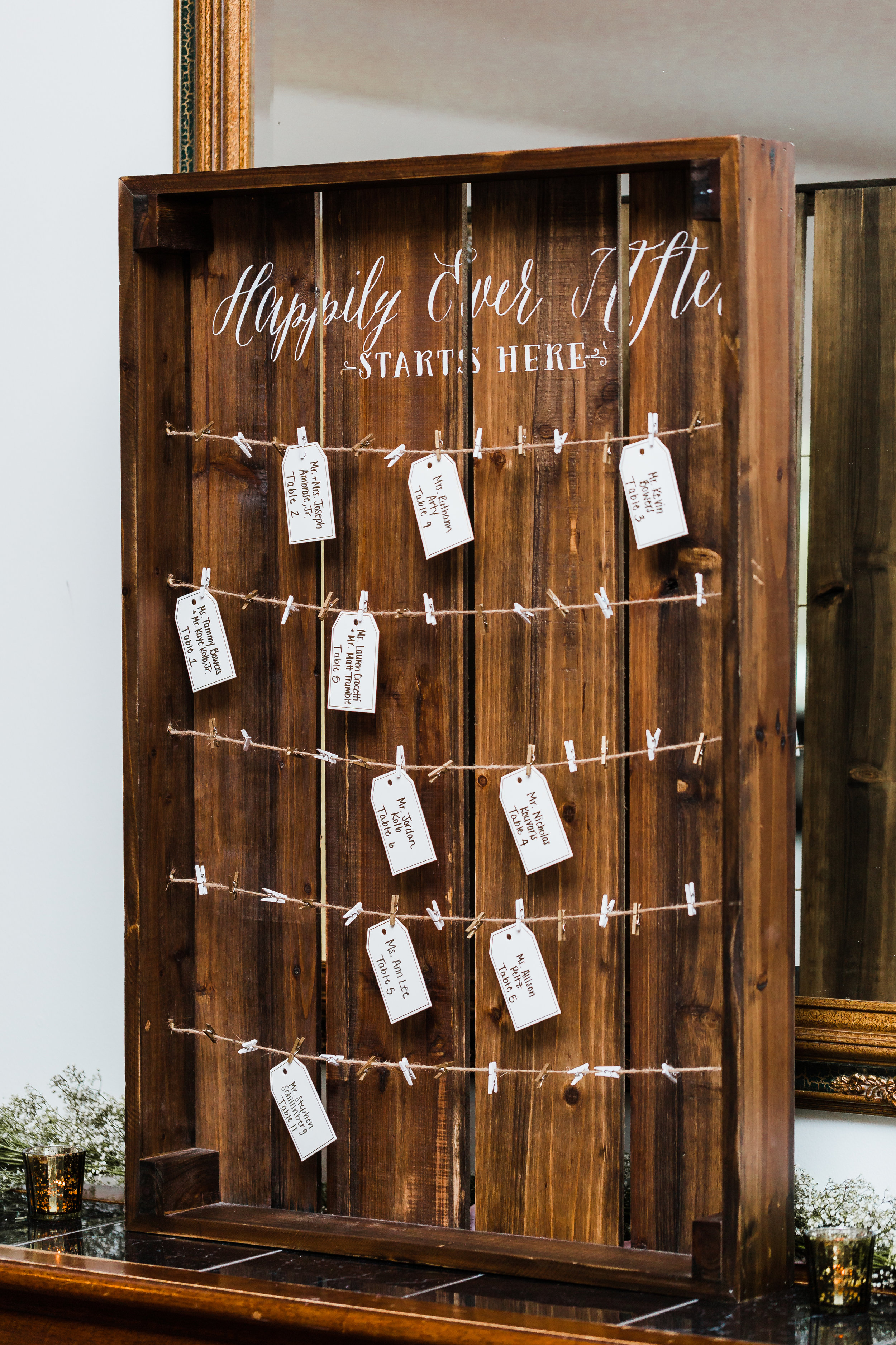 seating chart for antrim 1844 wedding - maryland wedding photography