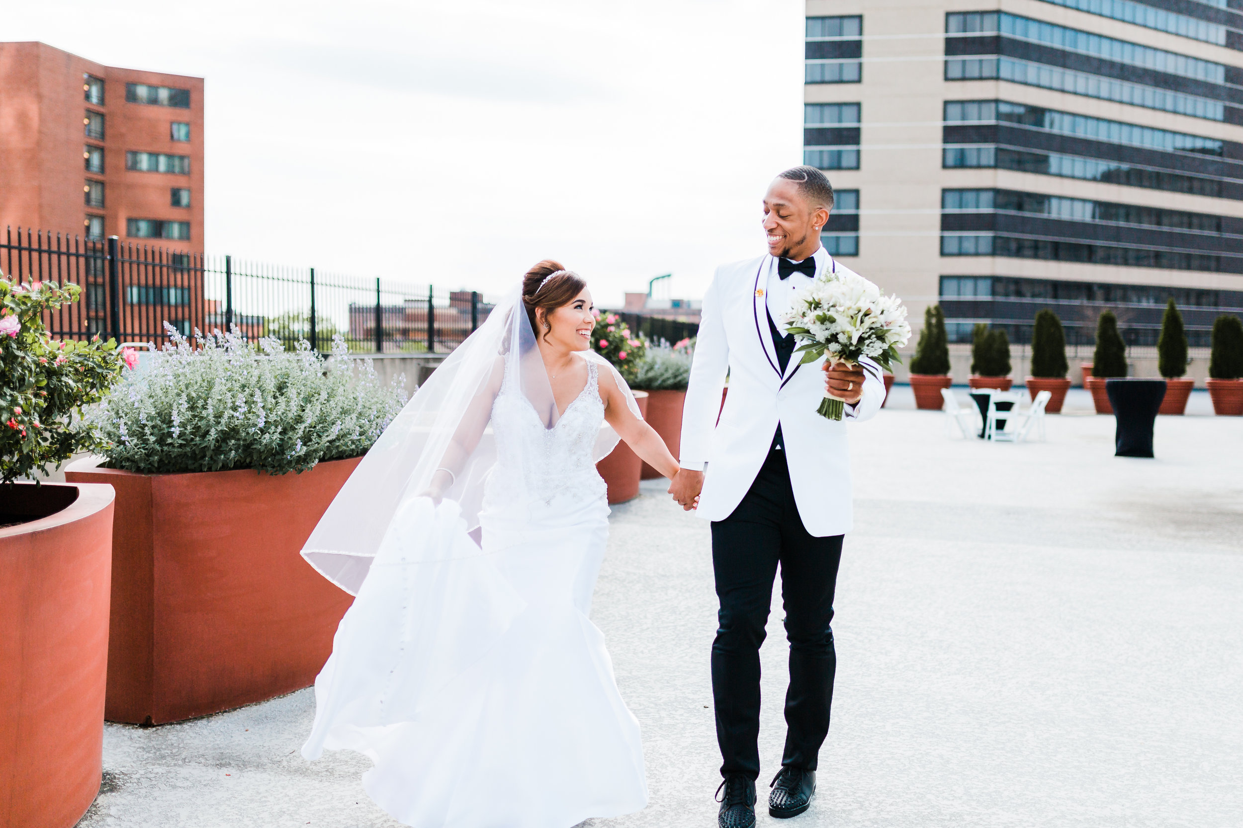 bride and groom laughing together - maryland wedding photographer