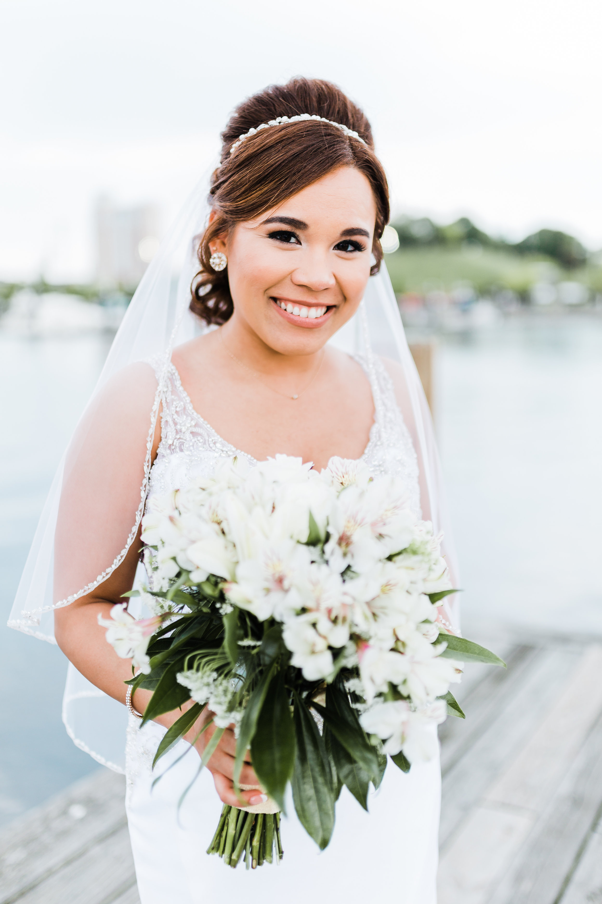 beautiful bride on her wedding day in baltimore maryland