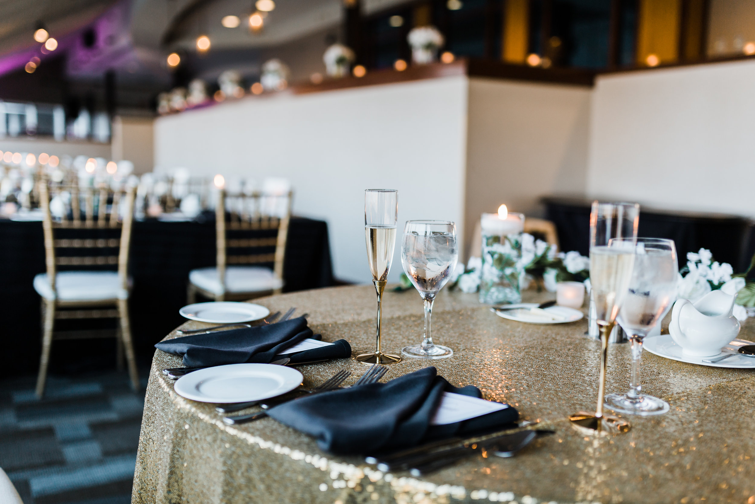 black and gold reception in baltimore maryland